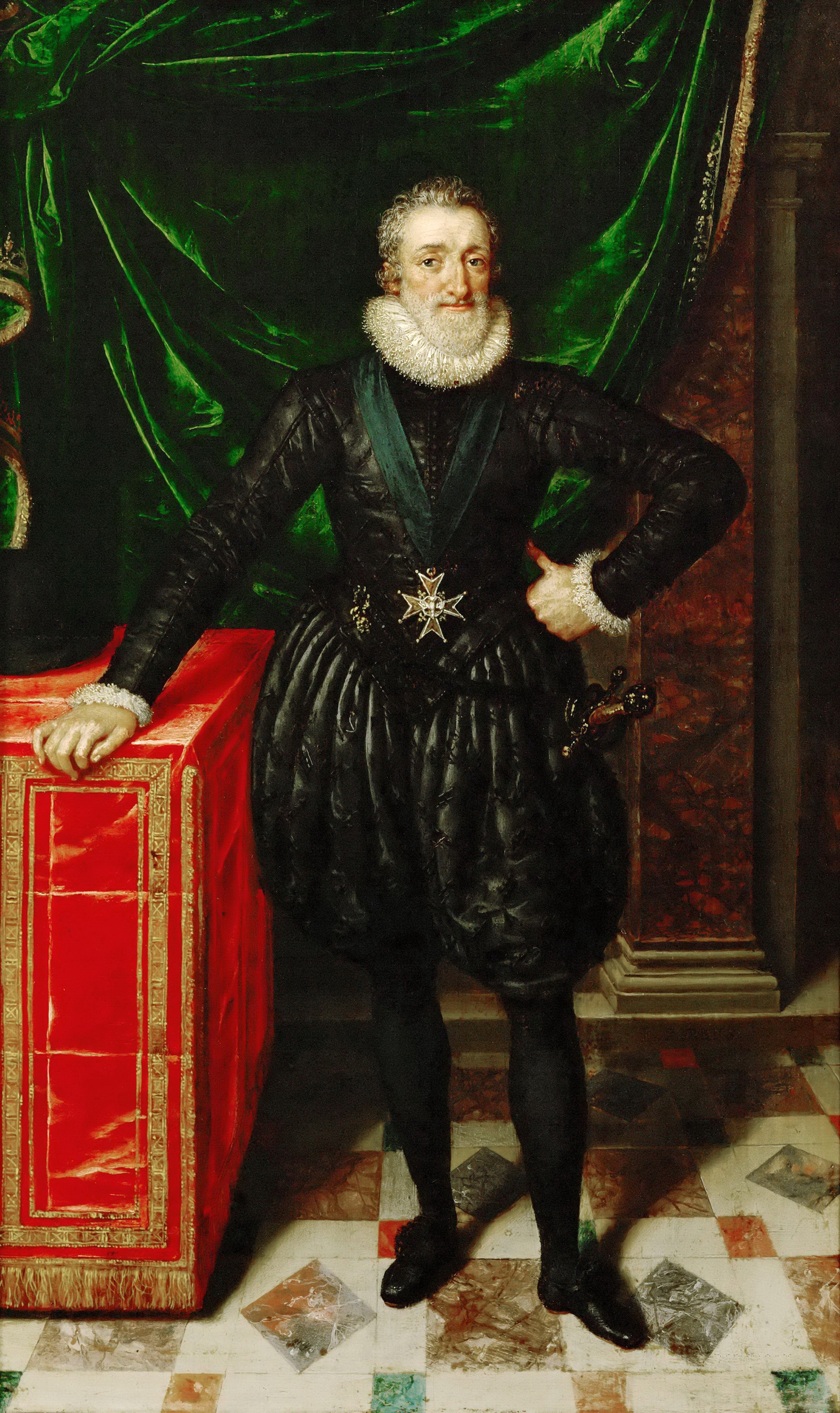 Portrait of Henry IV (1553-1610), King of France (1589-1610), King of Navarre (1572-1610), Duke of Vendôme (1562-1589), 1610 | Portraits of Kings
