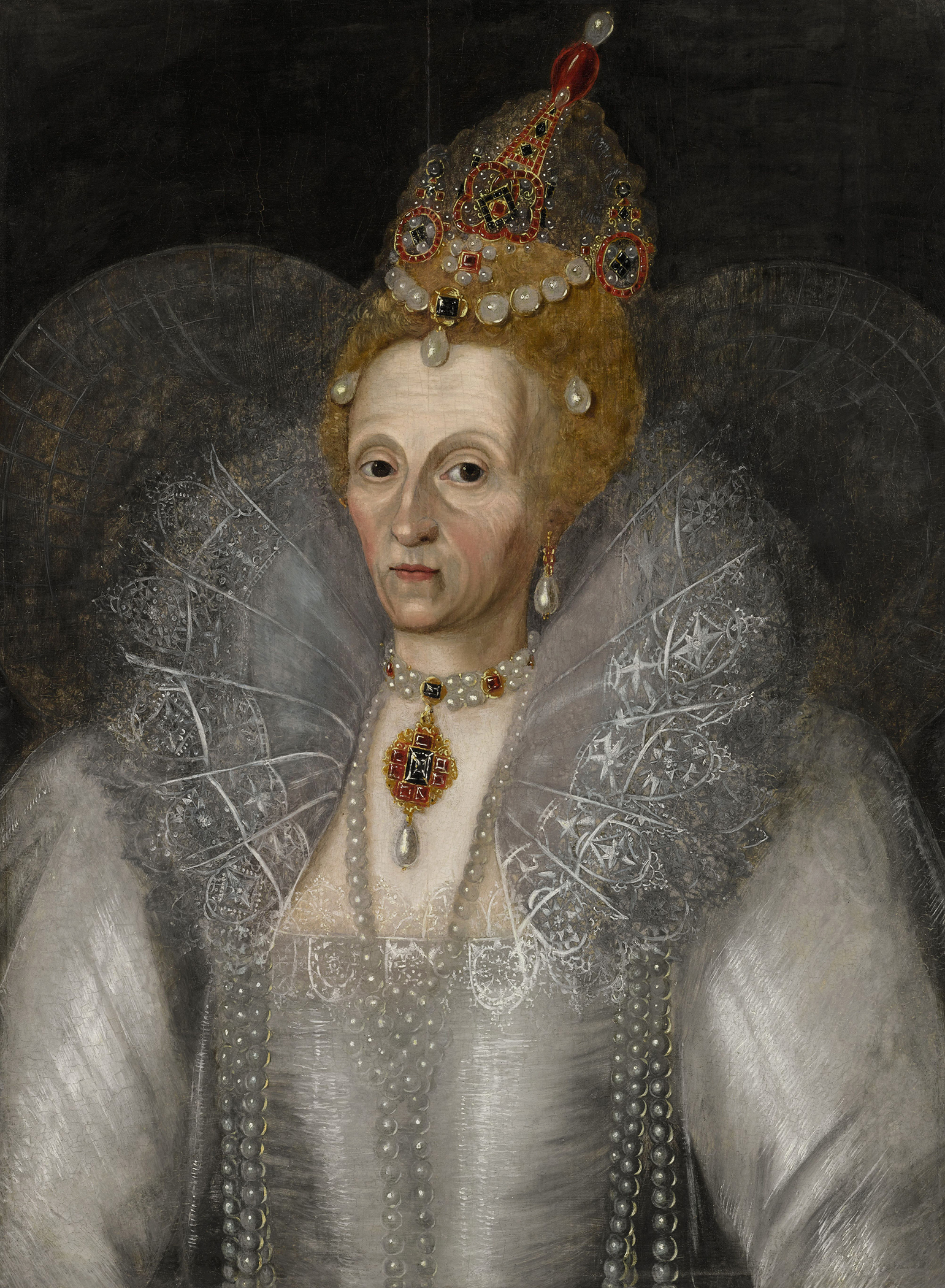 Portrait of Elizabeth I (1533-1603), Queen of England and Ireland (1558-1603), 1601 | Portraits of Kings
