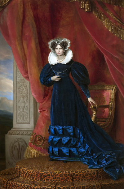 Portrait of Wilhelmine of Prussia (1774-1837), Queen consort of the Netherlands and Grand Duchess consort of Luxembourg (1815-1837), 1833 | Portraits of Kings