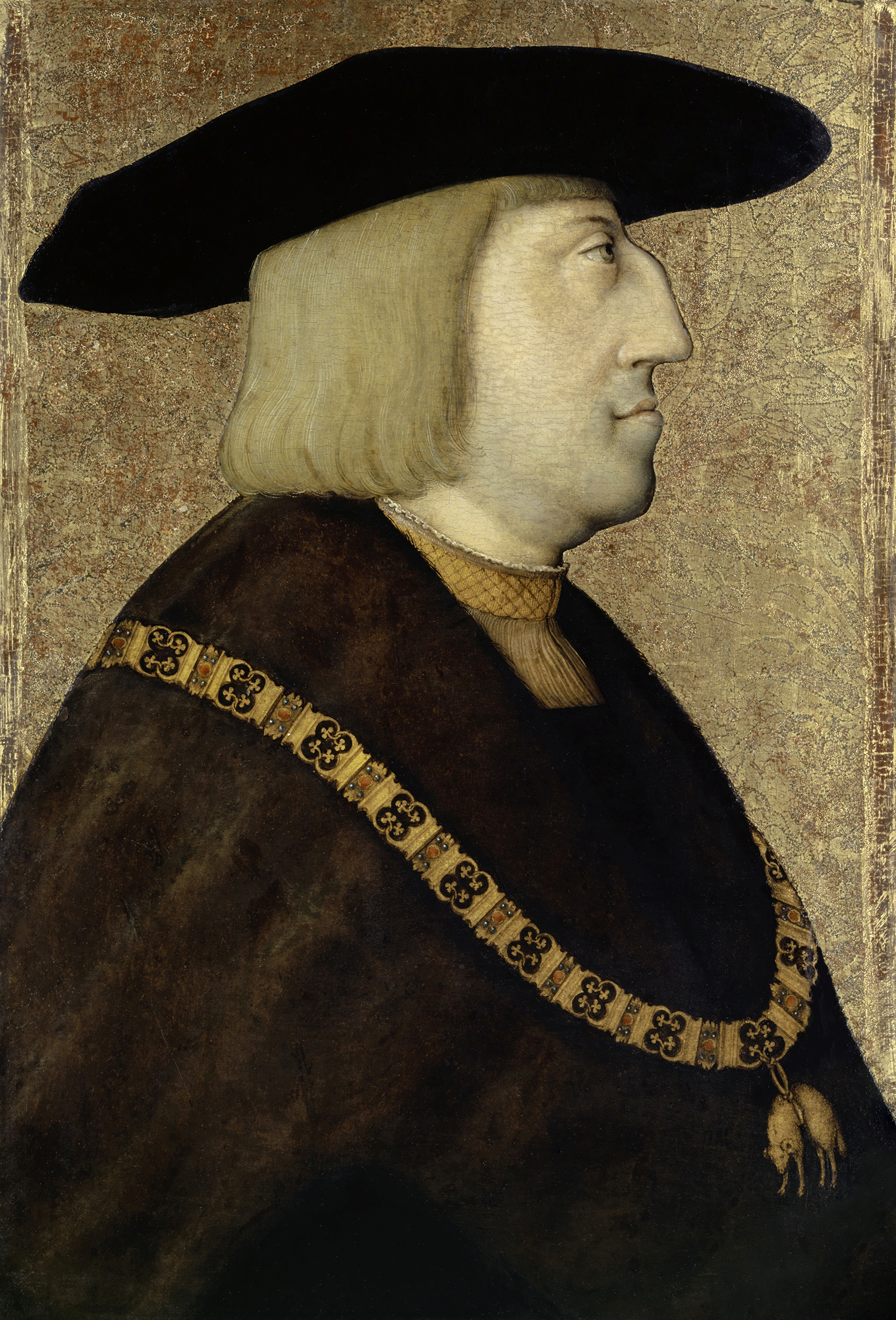Portrait of Maximilian I (1459-1519), King of the Romans (1486), Archduke of Austria, Holy Roman Emperor (1493), Duke of Brabant, Limburg, Lothier, Luxemburg and Guelders, Margrave of Namur, Count of Zutphen, Artois, Flanders, Charolais, Hainaut, Holland and Zeeland, Count Palatine of Burgundy (with Mary of Burgundy) from 1477 to 1482. | Portraits of Kings