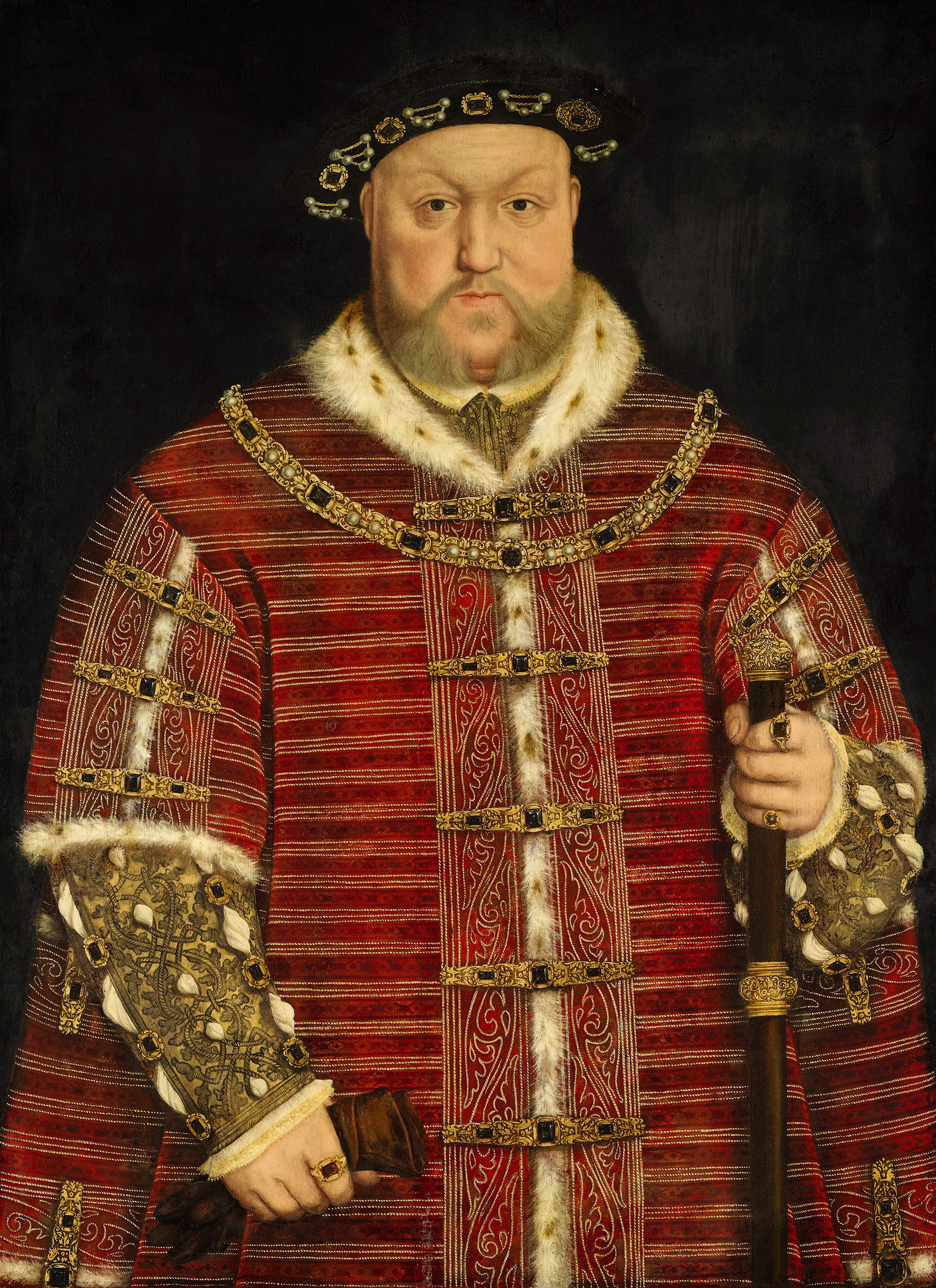Portrait of Henry VIII (1491-1547), King of England (1509-1547), Lord of Ireland (1509-1541), King of Ireland (1541-1547), 1542 | Portraits of Kings