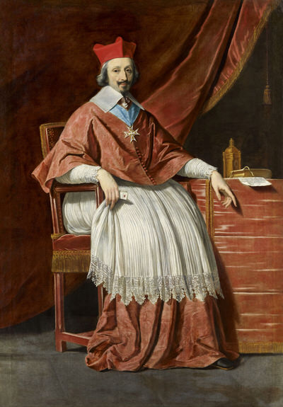 Portrait of Armand Jean du Plessis (1585-1642), 1st Duke of Richelieu (1629), Chief Minister to the French Monarch (1624-1642), Cardinal (1622), 1636 | Portraits of Kings