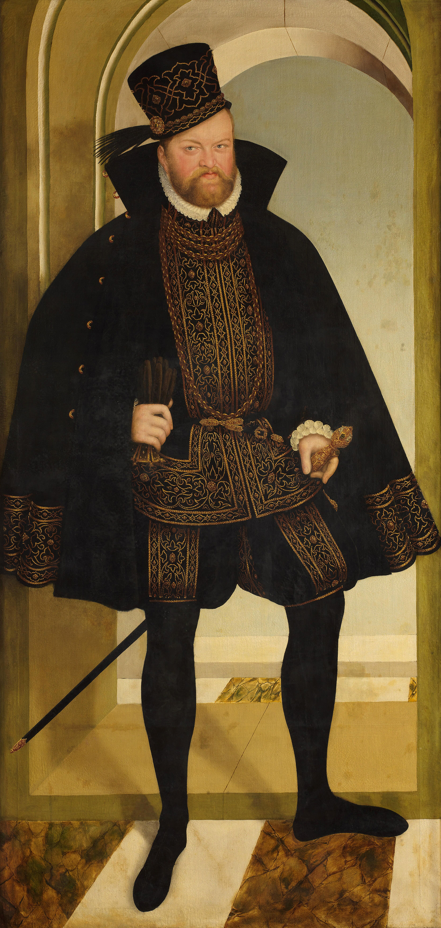 Portrait of Augustus (1526-1586), Elector of Saxony (1553-1586), 1572 | Portraits of Kings