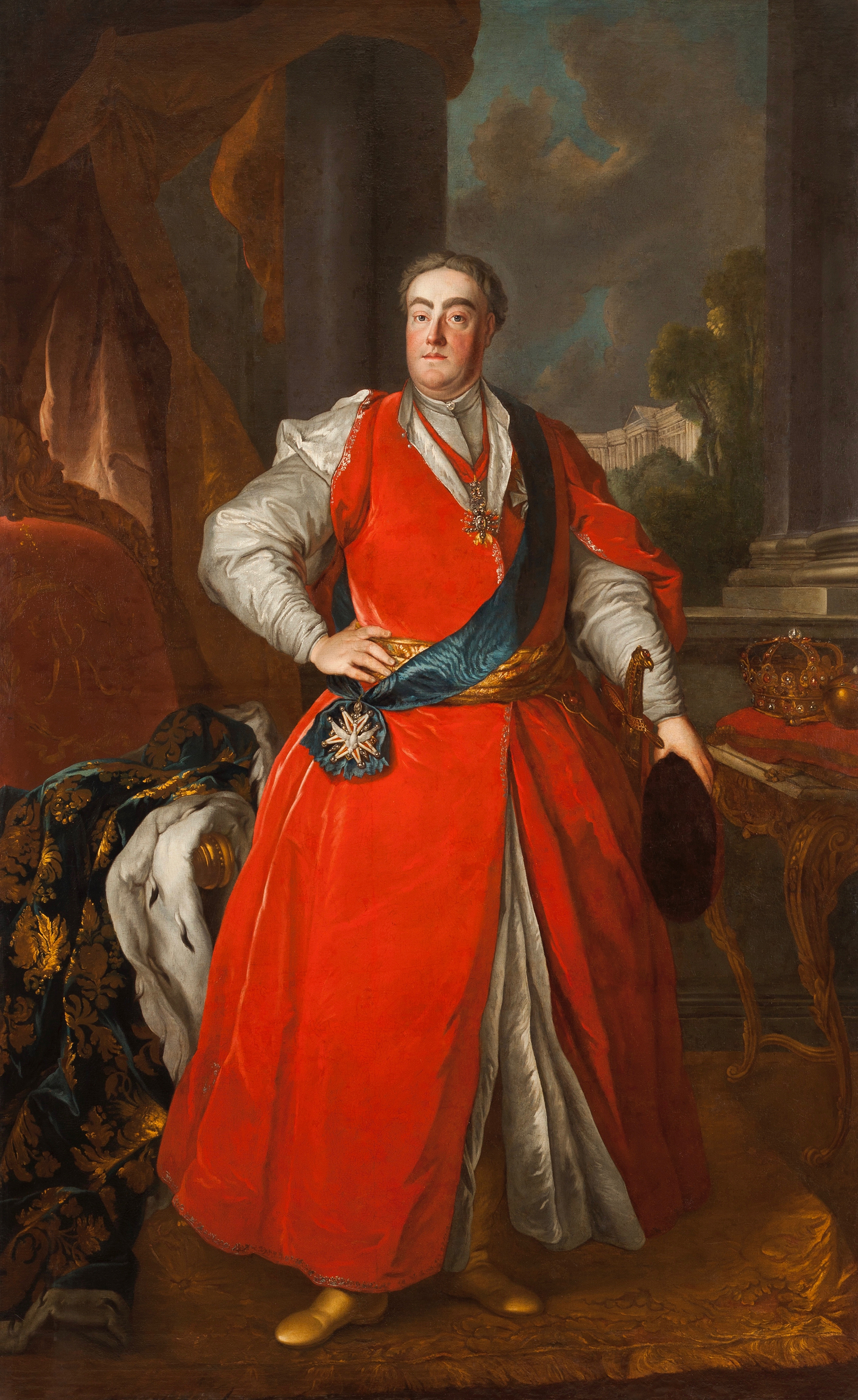 Portrait of August III (1696-1763), King of Poland, Grand Duke of Lithuania (1733-1763), Elector of Saxony (as Frederick August I) from 1733 to 1763, 1737 | Portraits of Kings