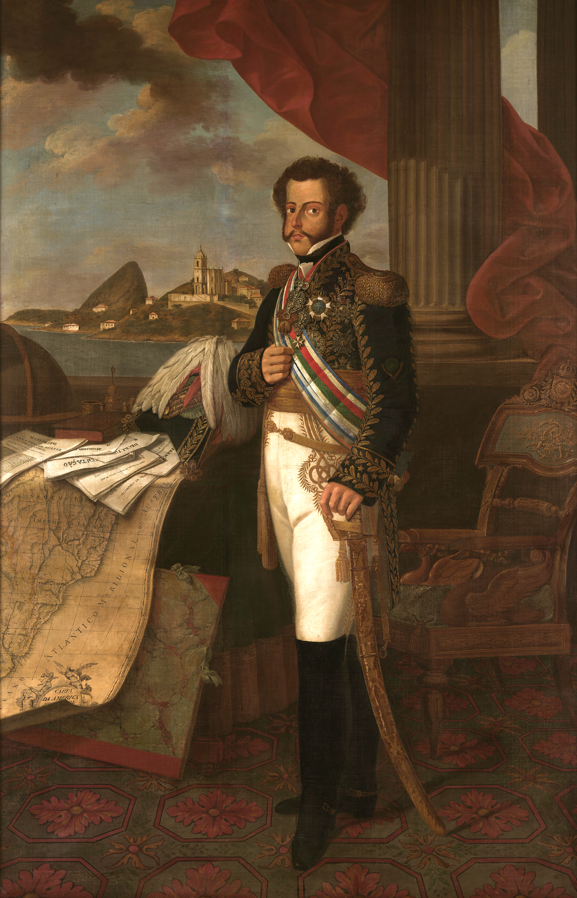 Portrait of Pedro IV (1798-1834), King of Portugal (1826), Crown Prince of Portugal (1816-1826), Emperor of Brazil (Pedro I) from 1822 to 1831, 1824 | Portraits of Kings