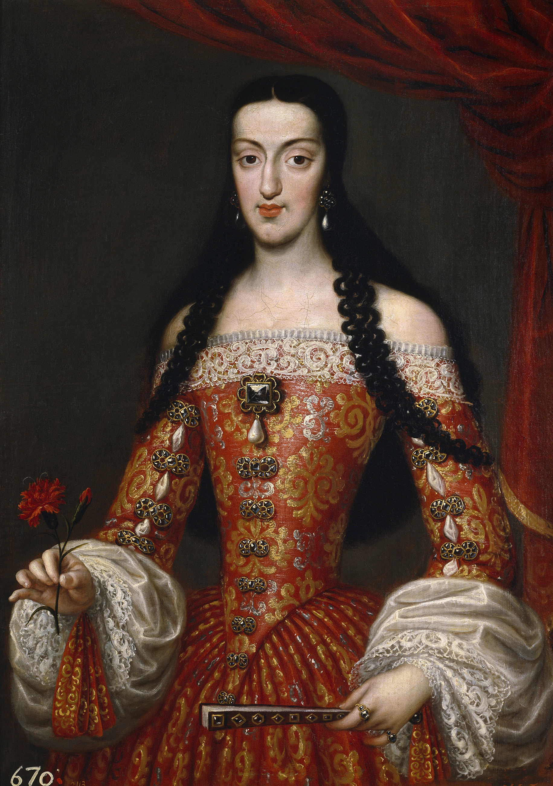Portrait of Marie Louise of Orléans (1662-1689), Queen consort of Spain (1679-1689), 1679 | Portraits of Kings