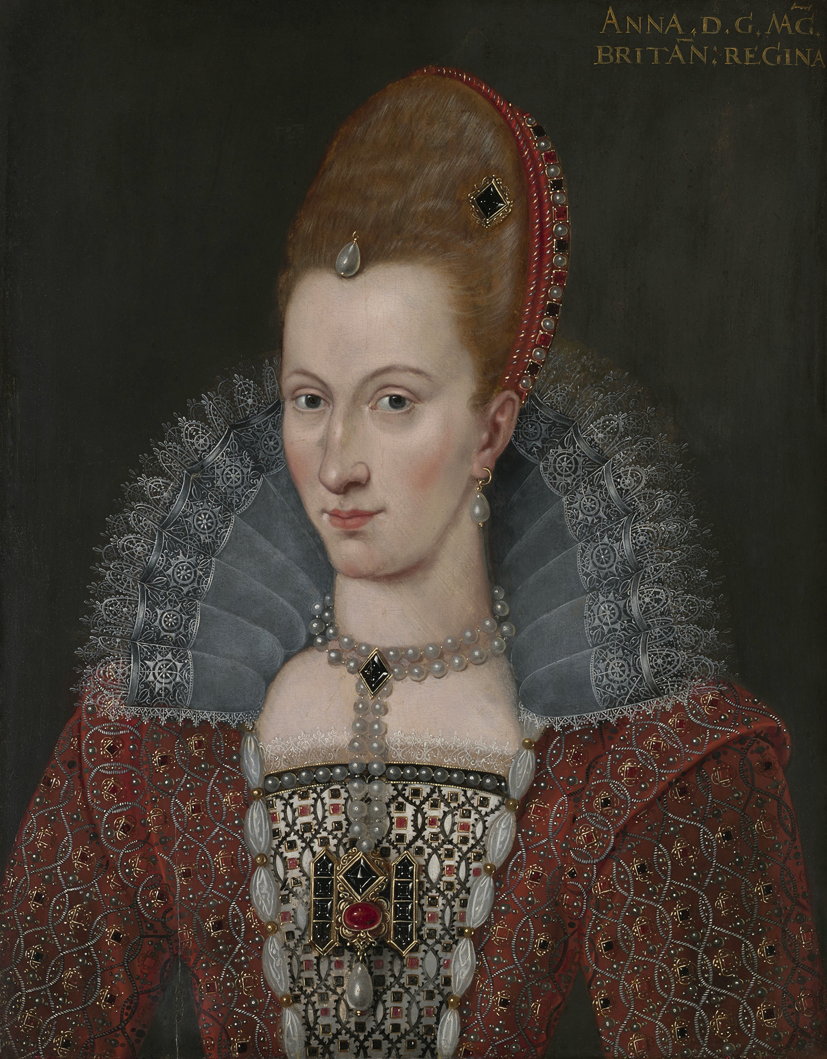 Portrait of Anne of Denmark (1574-1619), Queen consort of Scotland (1589), Queen consort of England and Ireland (1603), 1600 | Portraits of Kings