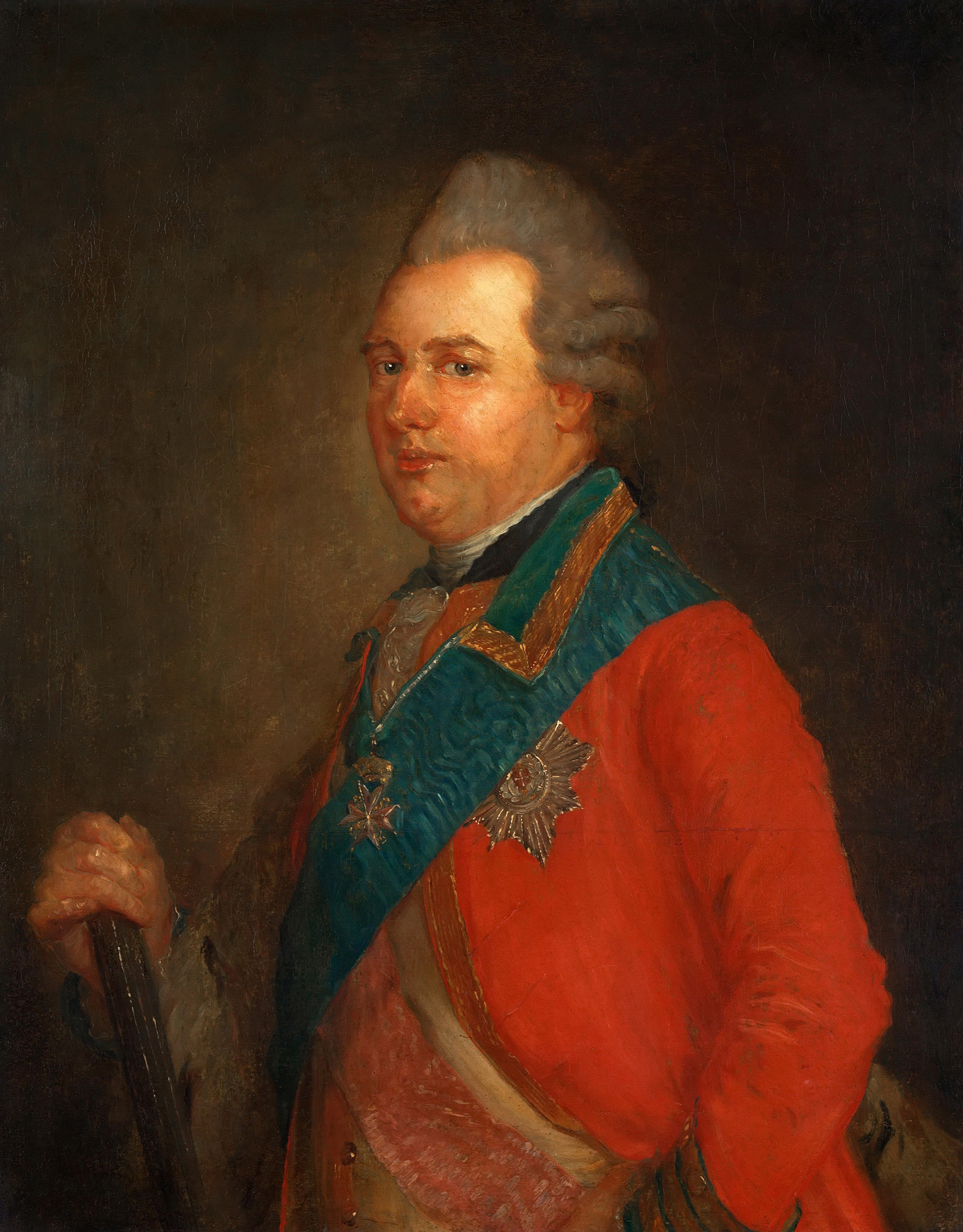 Portrait of Charles of Hessen-Kassel (1744-1836), Prince; Governor of the twin duchies of Schleswig-Holstein from 1769 to 1836; Сommander-in-chief of the Norwegian army (Kommanderende general i Norge) from 1772 to 1814, General-Field Marshal of the Danish Army, 1775 | Portraits of Kings