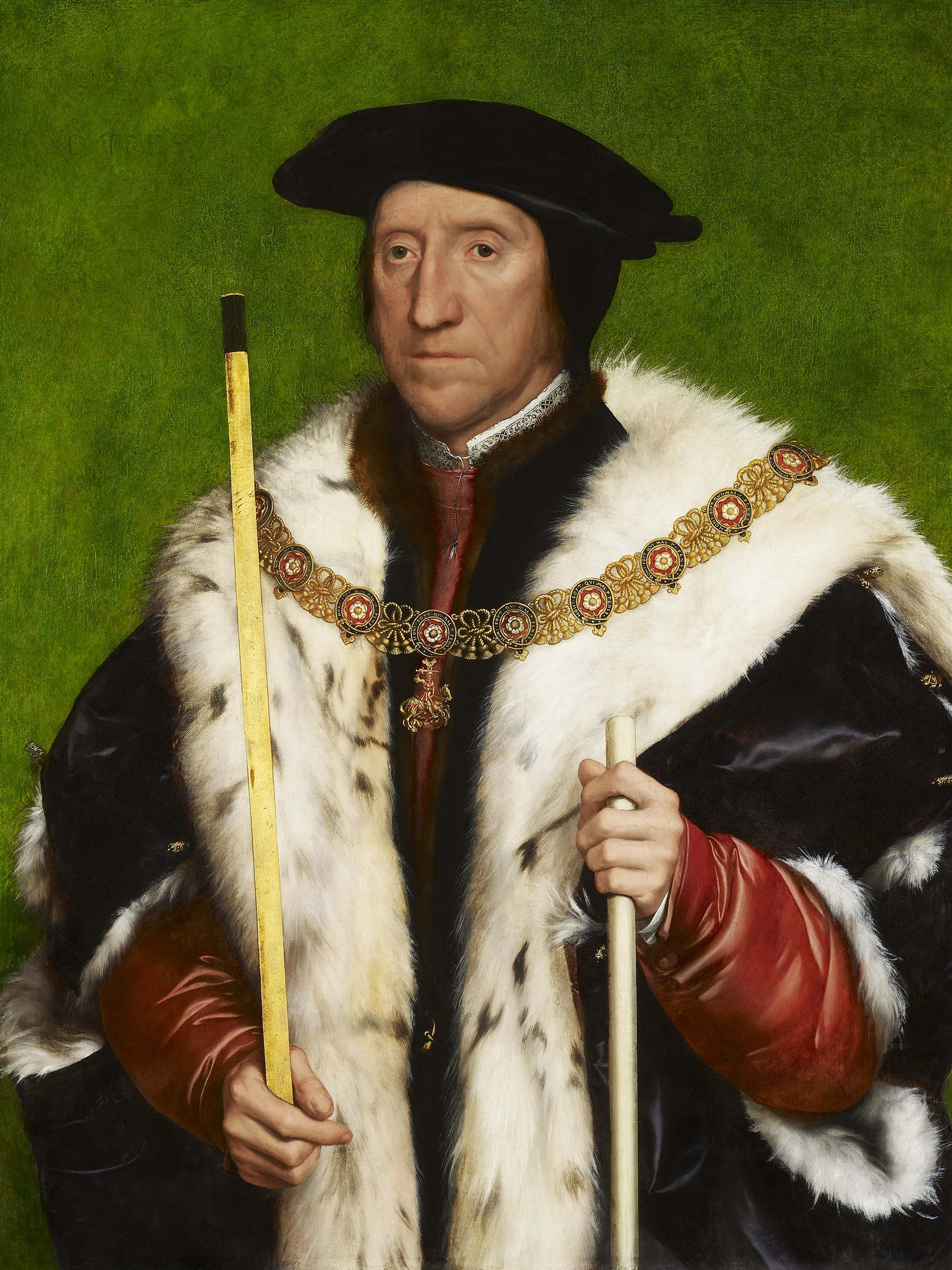 Portrait of Thomas Howard (1473-1554), 3rd Duke of Norfolk (1524-1547; 1553-1554), Earl Marshal (1533-1547; 1553-54), Lord High Treasurer (1522-1546), Lieutenant-General of the army (1543), 1538 | Portraits of Kings