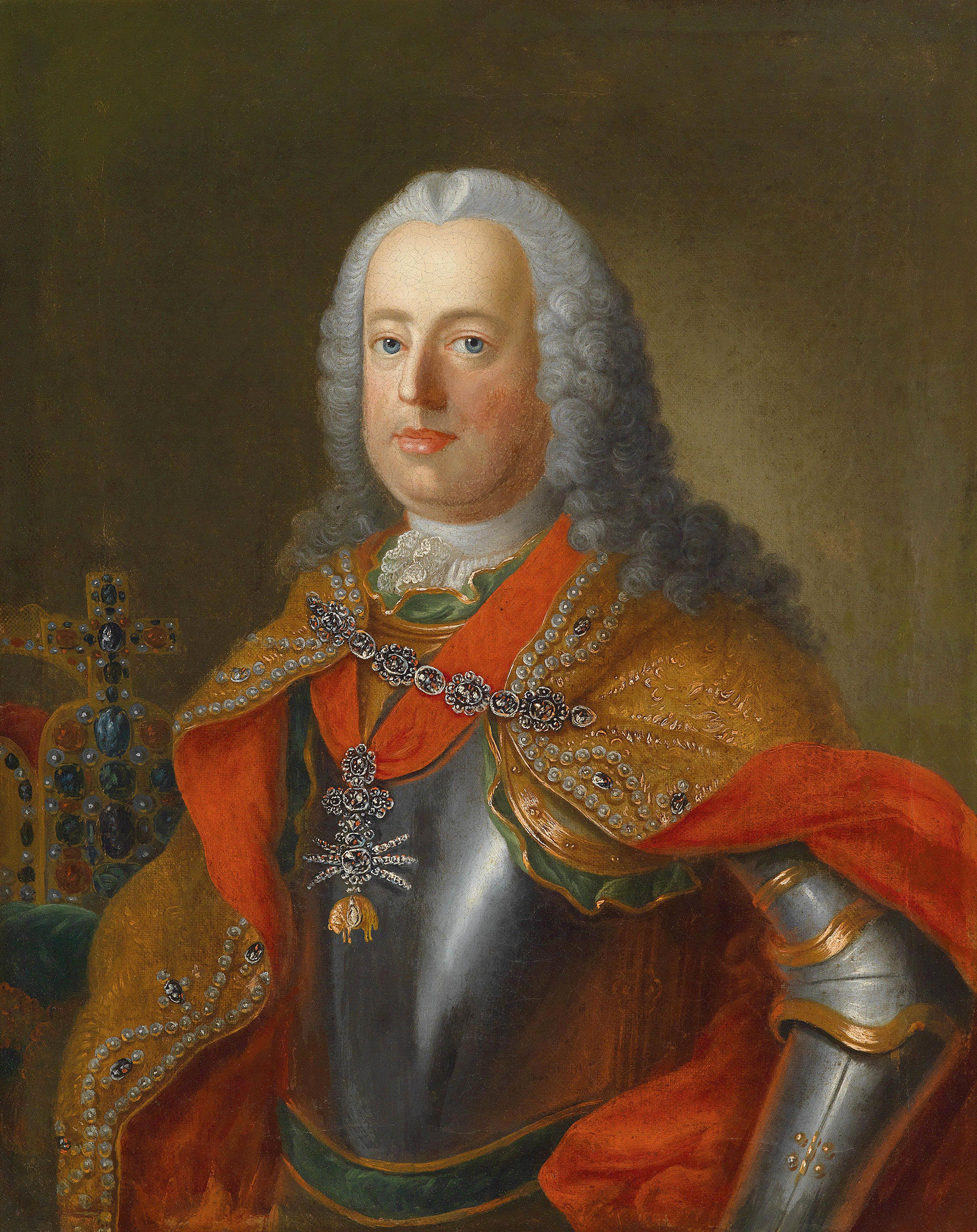 Portrait of Francis I (1708-1765), Holy Roman Emperor (King in Germany) from 1745 to 1765; Duke of Lorraine (François III) from 1729 to 1737; Grand Duke of Tuscany (1737-1765), Archduke of Austria (with Maria Theresa) from 1745 to 1765 | Portraits of Kings