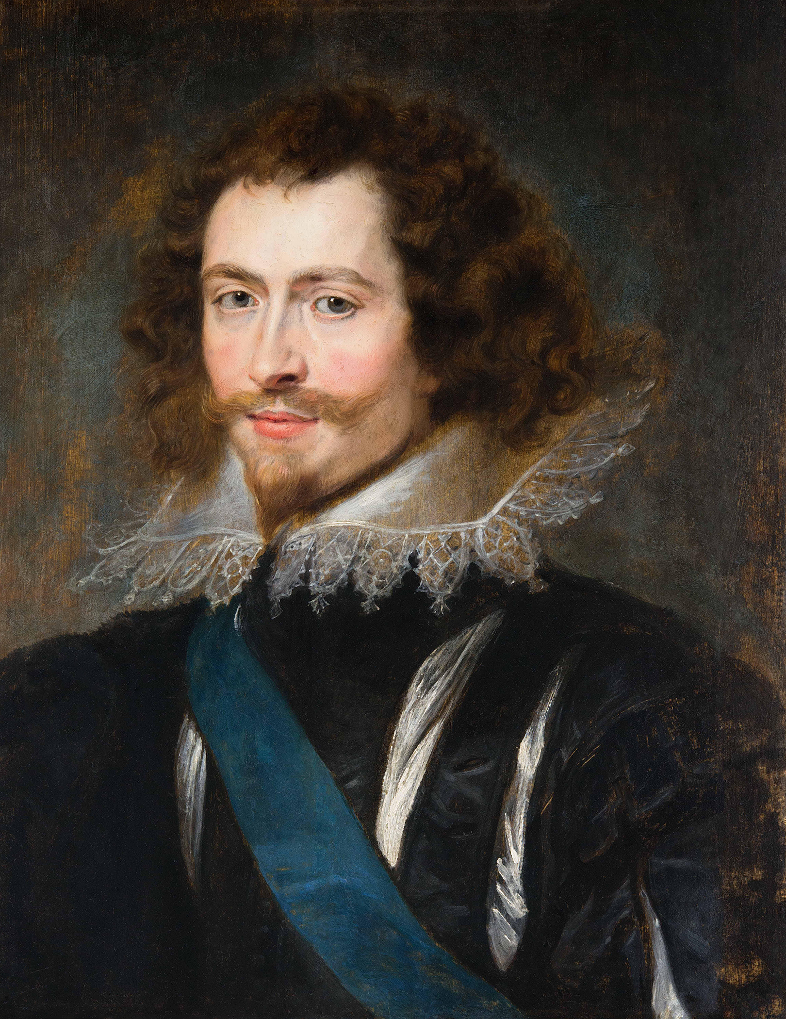 Portrait of George Villiers (1592-1628), Viscount Villiers (1616), Earl of Buckingham (1617), Marquess of Buckingham (1618), Duke of Buckingham (1623), Master of the Horse (1616-1628), Lord High Admiral (1619-1628), Lord Warden of the Cinque Ports (1625-1628), favourite of the Kings of England (James I and Charles I), 1625 | Portraits of Kings
