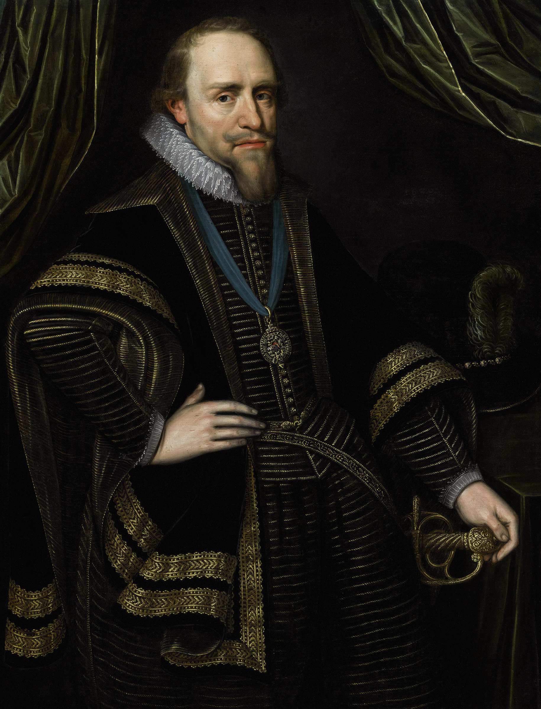 Portrait of Maurice of Nassau (1567-1625), Prince of Orange (1618-1625), Stadtholder of Holland and Zeeland (1585-1625), Stadtholder of Utrecht, Guelders and Overijssel (1590-1625), Stadtholder of Groningen (1620-1625), 1620