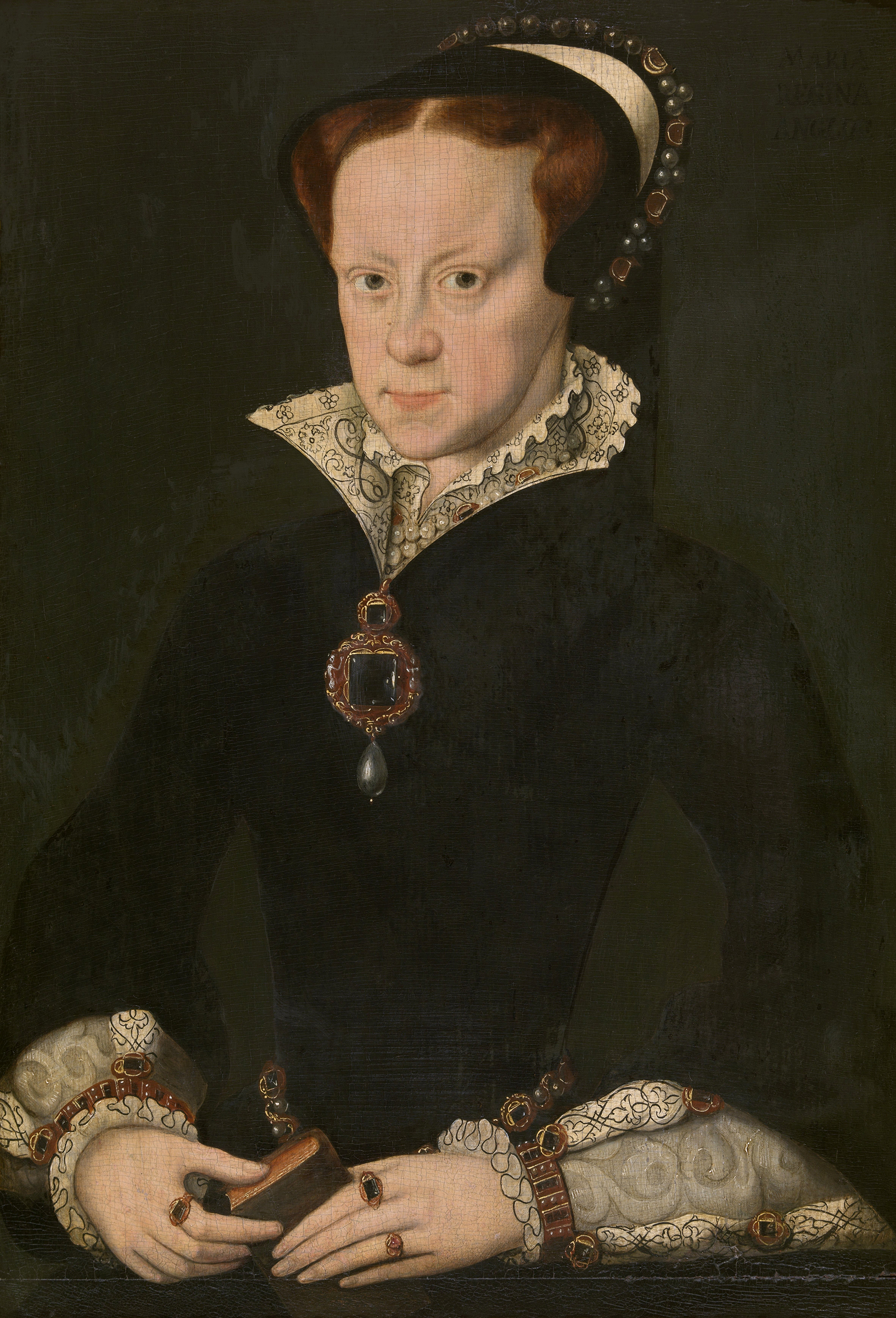 Portrait of Mary I (1516-1558), Queen of England and Ireland (1553-1558), Queen consort of Naples (1554-1558), Queen consort of Spain (1556-1558) | Portraits of Kings