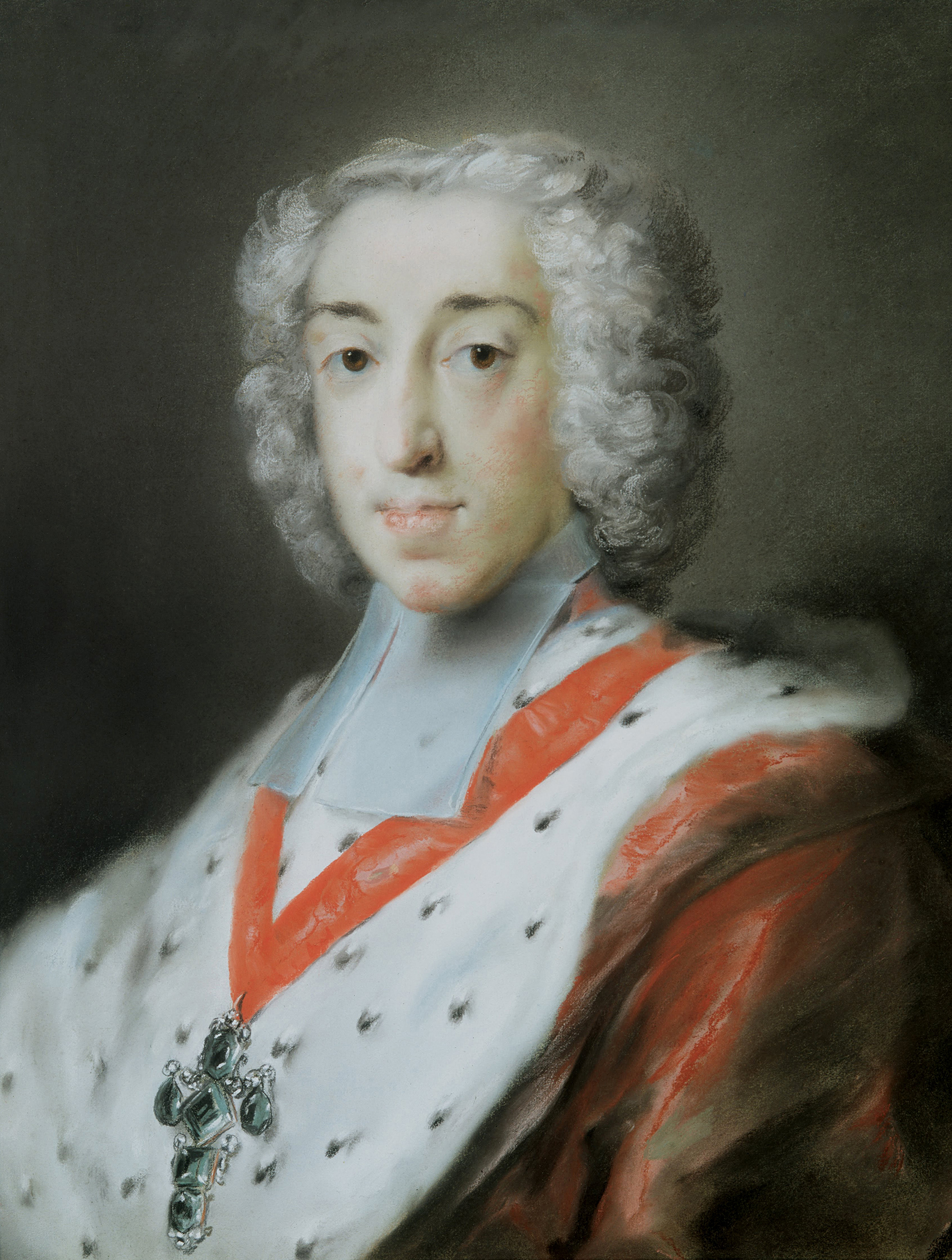 Portrait of Clemens August of Bavaria (1700-1761), Prince-Bishop of Regensburg (1716-1719), Prince-Bishop of Paderborn (1719-1761), Prince-Bishop of Münster and Burgrave of Stromberg (1719-1761), Prince-Archbishop-Elector of Cologne and Duke of Westphalia (1723-1761), Prince-Bishop of Hildesheim (1723-1761), Prince-Bishop of Osnabrück (1728), Grand Master of the Teutonic Order (1732), 1727 | Portraits of Kings