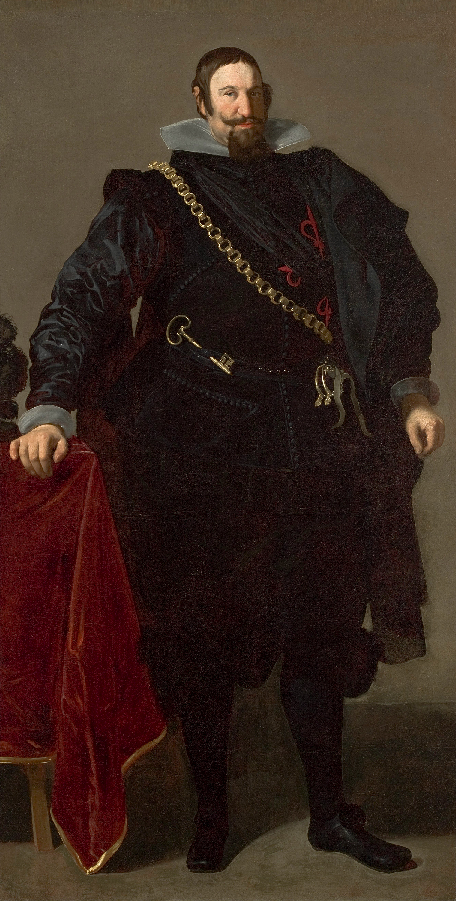 Portrait of Gaspar de Guzmán (1587-1645), Count of Olivares, Duke of Sanlúcar (1625); Great Equerry (Caballerizo major) from 1624 to 1643; de facto Prime Minister of Spain (valido del rey Felipe IV) from 1622 to 1643, 1624 | Portraits of Kings