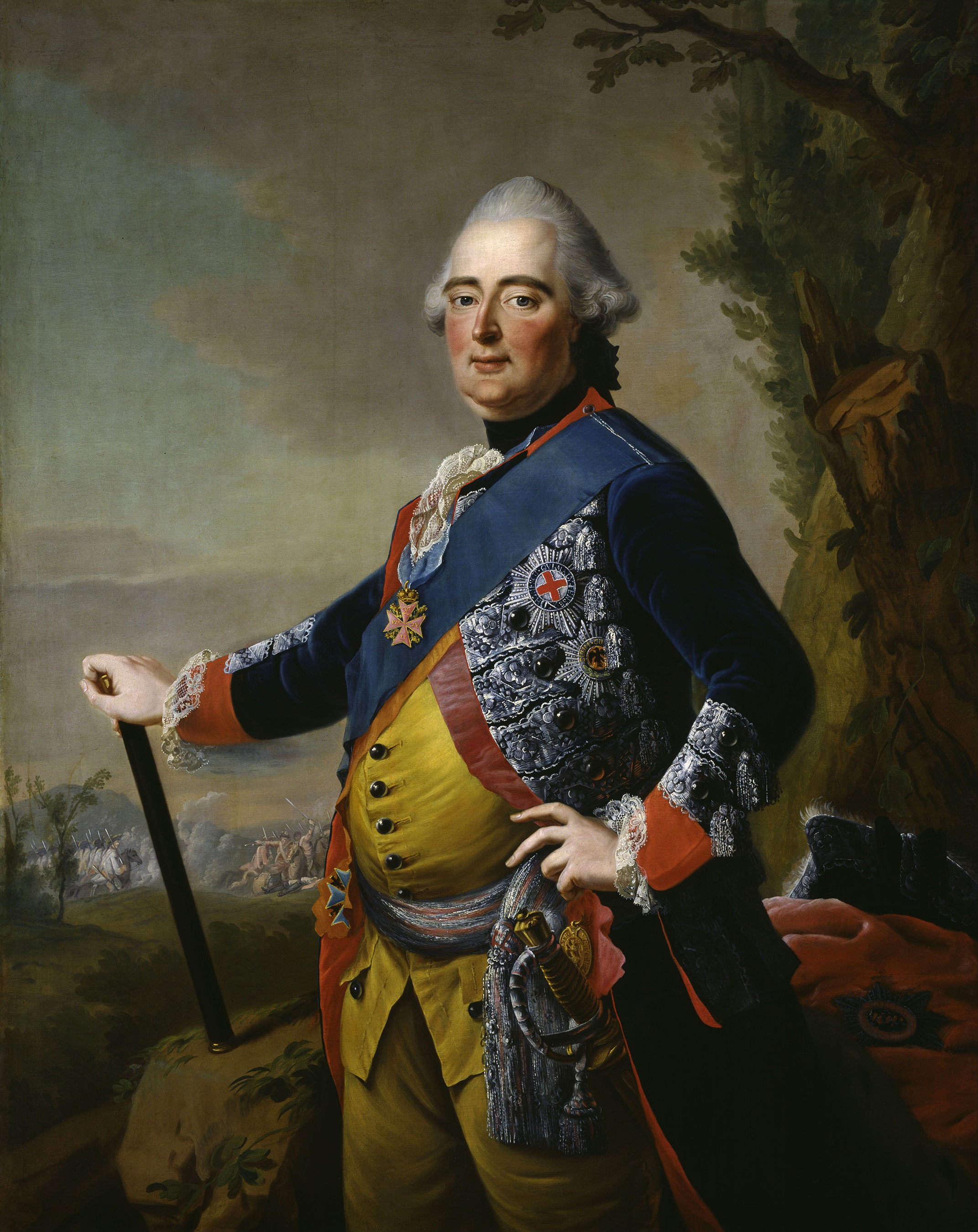 Portrait of Frederick II (1720-1785), Landgrave of Hesse-Kassel (1760-1785), 1773 | Portraits of Kings