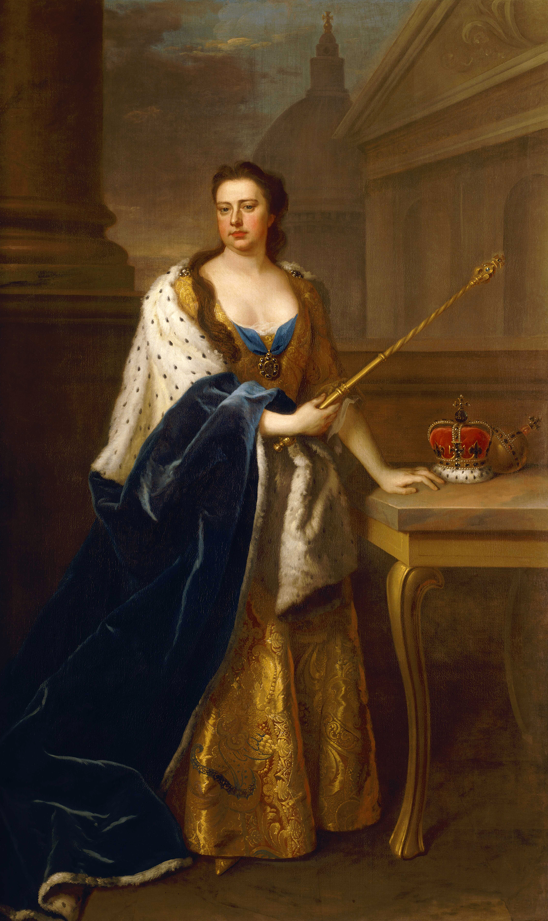 Portrait of Anne (1665-1714), Queen of England, Scotland and Ireland (1702-1707), Queen of Great Britain and Ireland (1707-1714), 1714 | Portraits of Kings