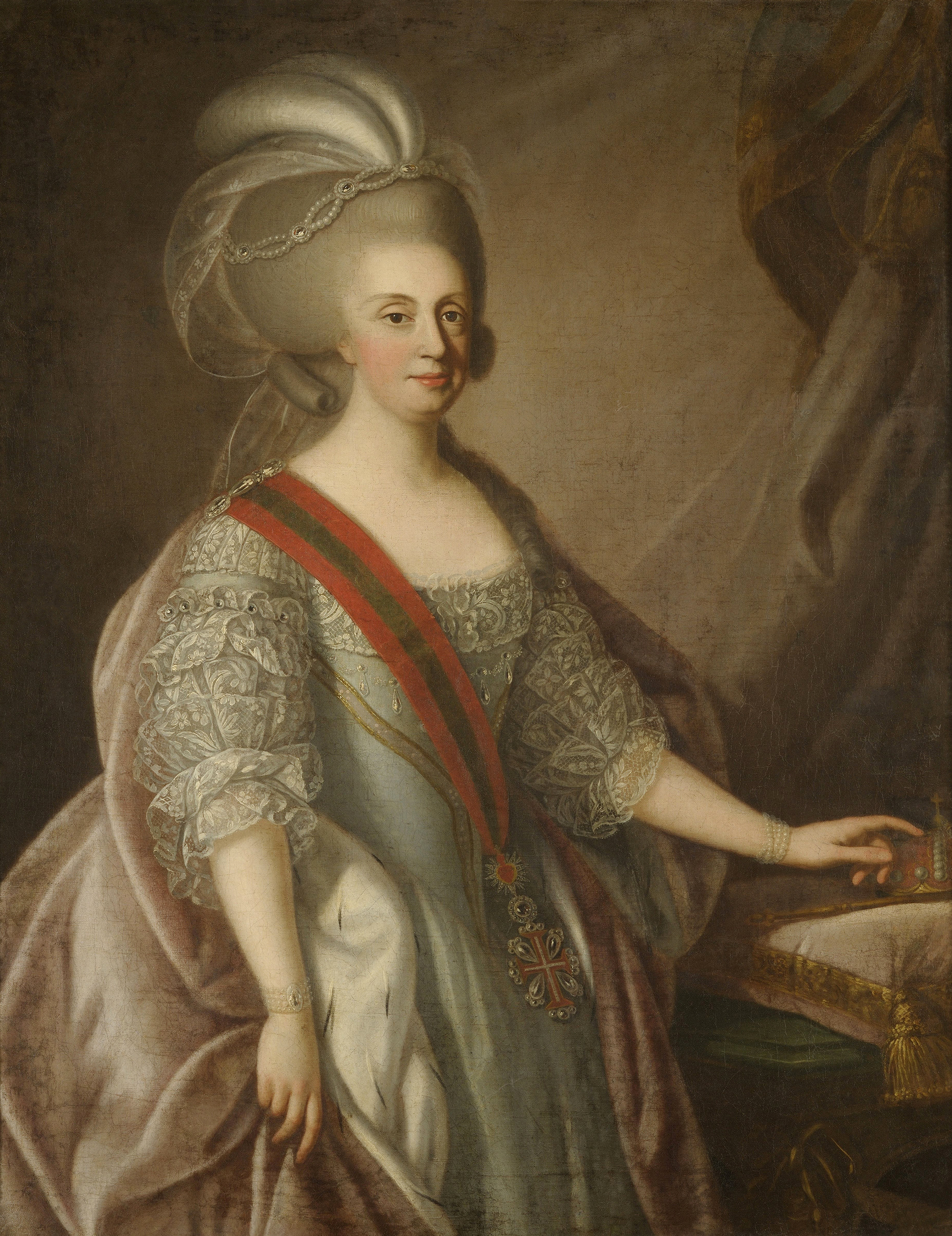 Portrait of Maria I (1734-1816), Queen of Portugal (1777-1816), Regency (1792-1816), 1783 | Portraits of Kings