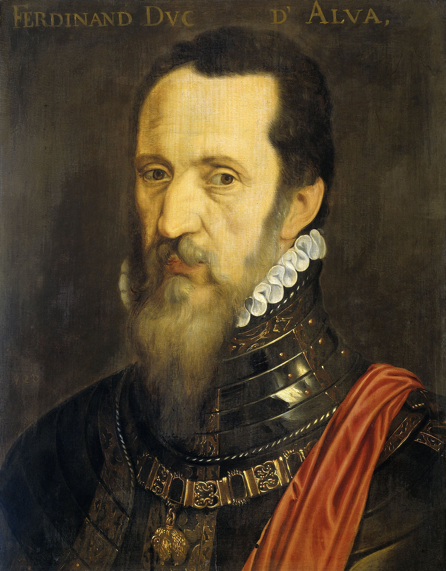 Portrait of Fernando Álvarez de Toledo (1507-1582), 3rd Duke of Alba (1531), Governor of Milan (1555-1556), Viceroy of Naples (1556-1558), Governor of the Netherlands (1567-1573), Viceroy of Portugal (1580-1582), High Steward  (Mayordomo mayor) to the King of Spain (1541-1582), Captain general of the Spanish Army, Grandee of Spain | Portraits of Kings