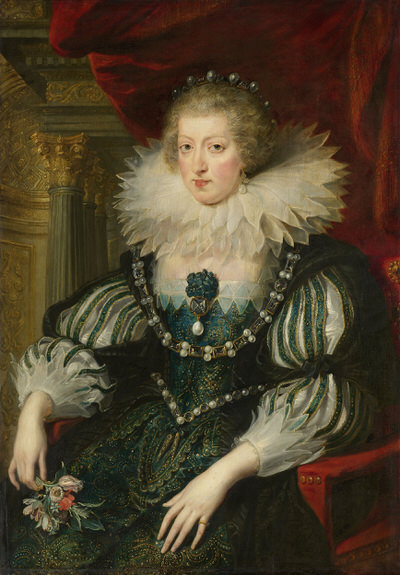 Portrait of Anne of Austria (1601-1666), Queen consort of France (1615-1643), Regent of France (1643-1651) | Portraits of Kings