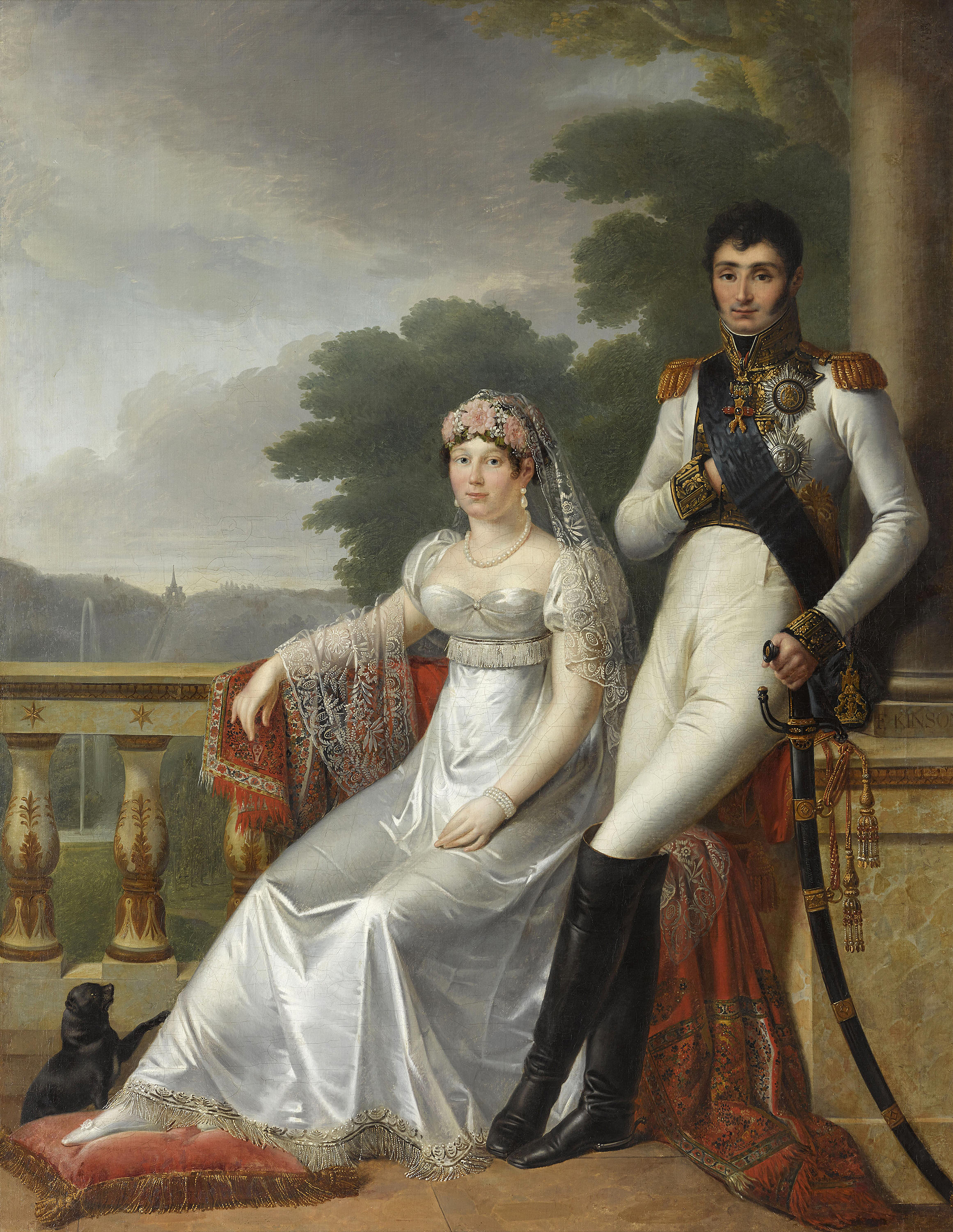 Portrait of Catharina of Württemberg (1783-1835), Queen consort of Westphalia (1807-1813) and Jérôme Bonaparte (1784-1860), King of Westphalia (1807-1813), Marshal of France from 1850 | Portraits of Kings