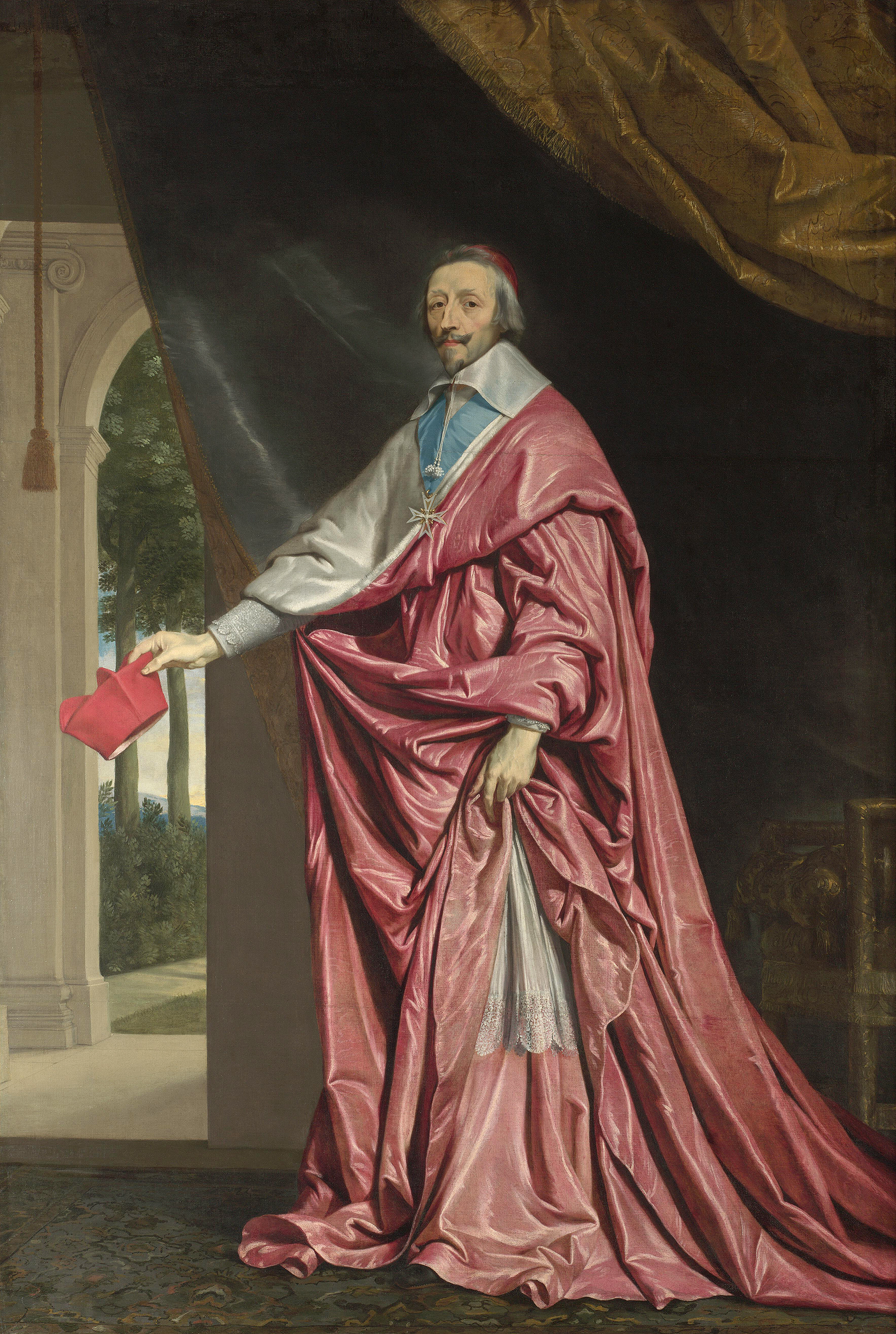 Portrait of Armand Jean du Plessis (1585-1642), 1st Duke of Richelieu (1629), Chief Minister to the French Monarch (1624-1642), Cardinal (1622), 1637 | Portraits of Kings