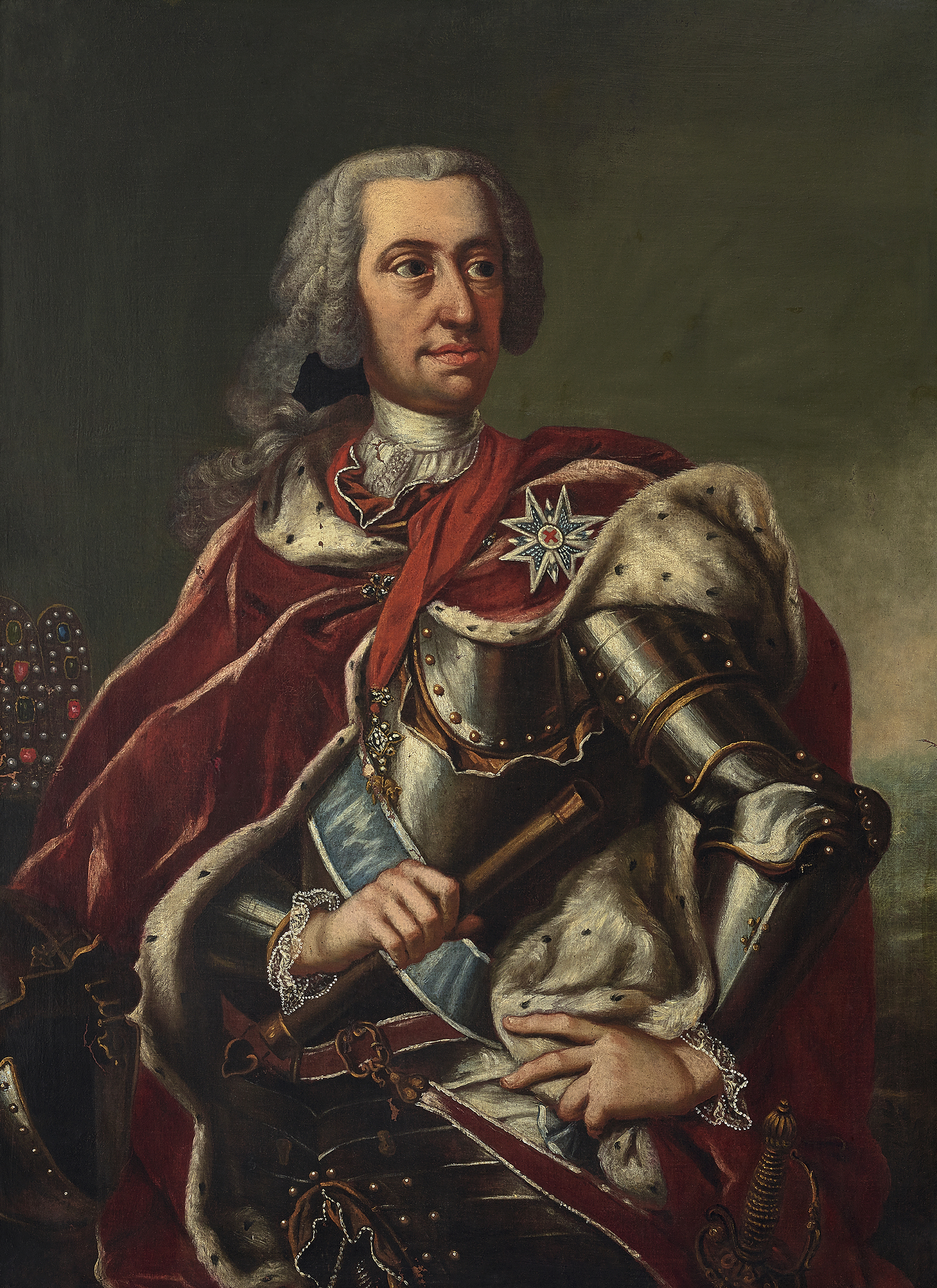 Portrait of Charles VII (1697-1745), Holy Roman Emperor, King in Germany (1742-1745), Elector of Bavaria (Charles Albert; German: Karl Albrecht von Bayern) from 1726 to1745; King of Bohemia (1741-1743) | Portraits of Kings