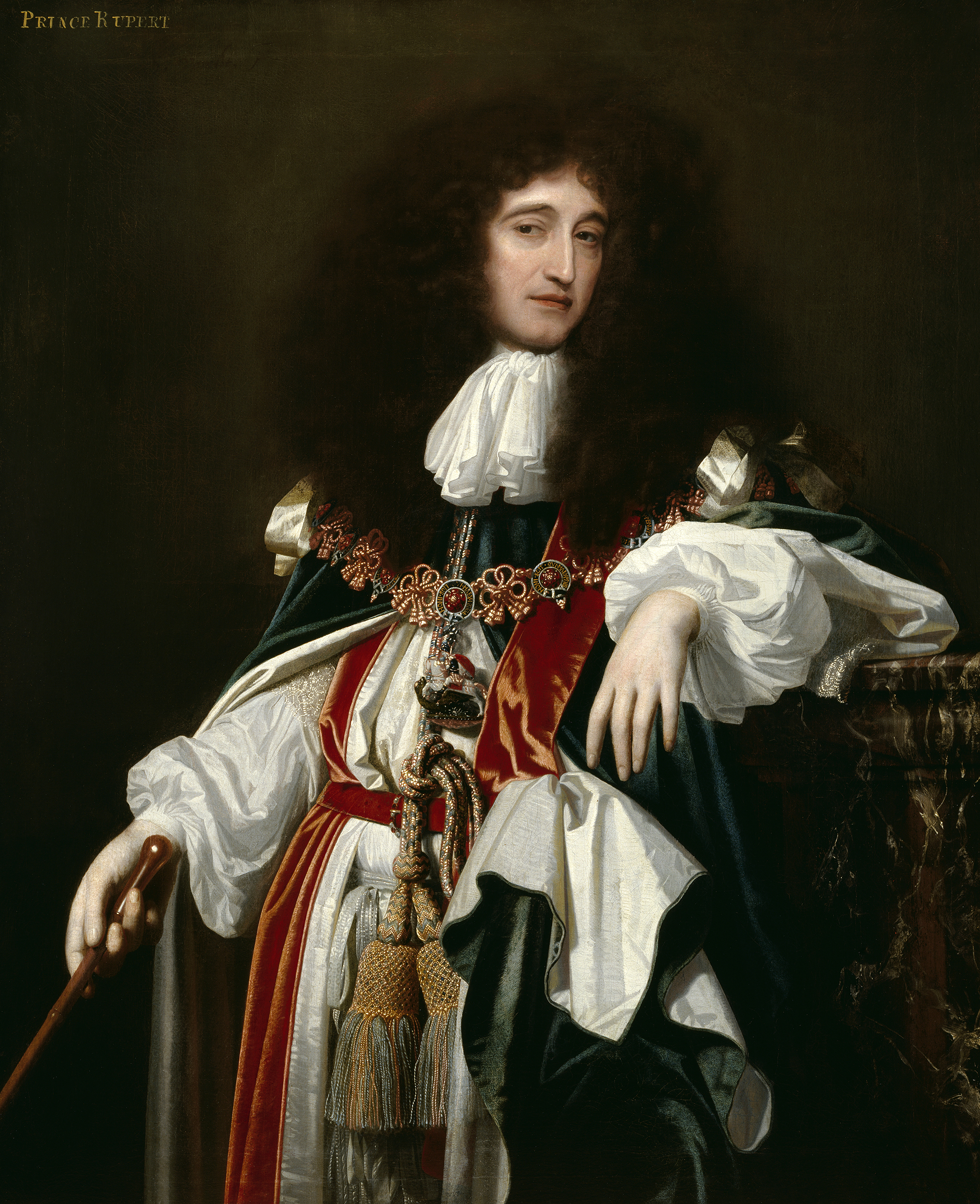 Portrait of Rupert of the Rhine (1619-1682), Prince, Count Palatine; Duke of Cumberland (1644), appointed to the King's Privy Council in 1662, Lord High Admiral of England (1668-1682) | Portraits of Kings