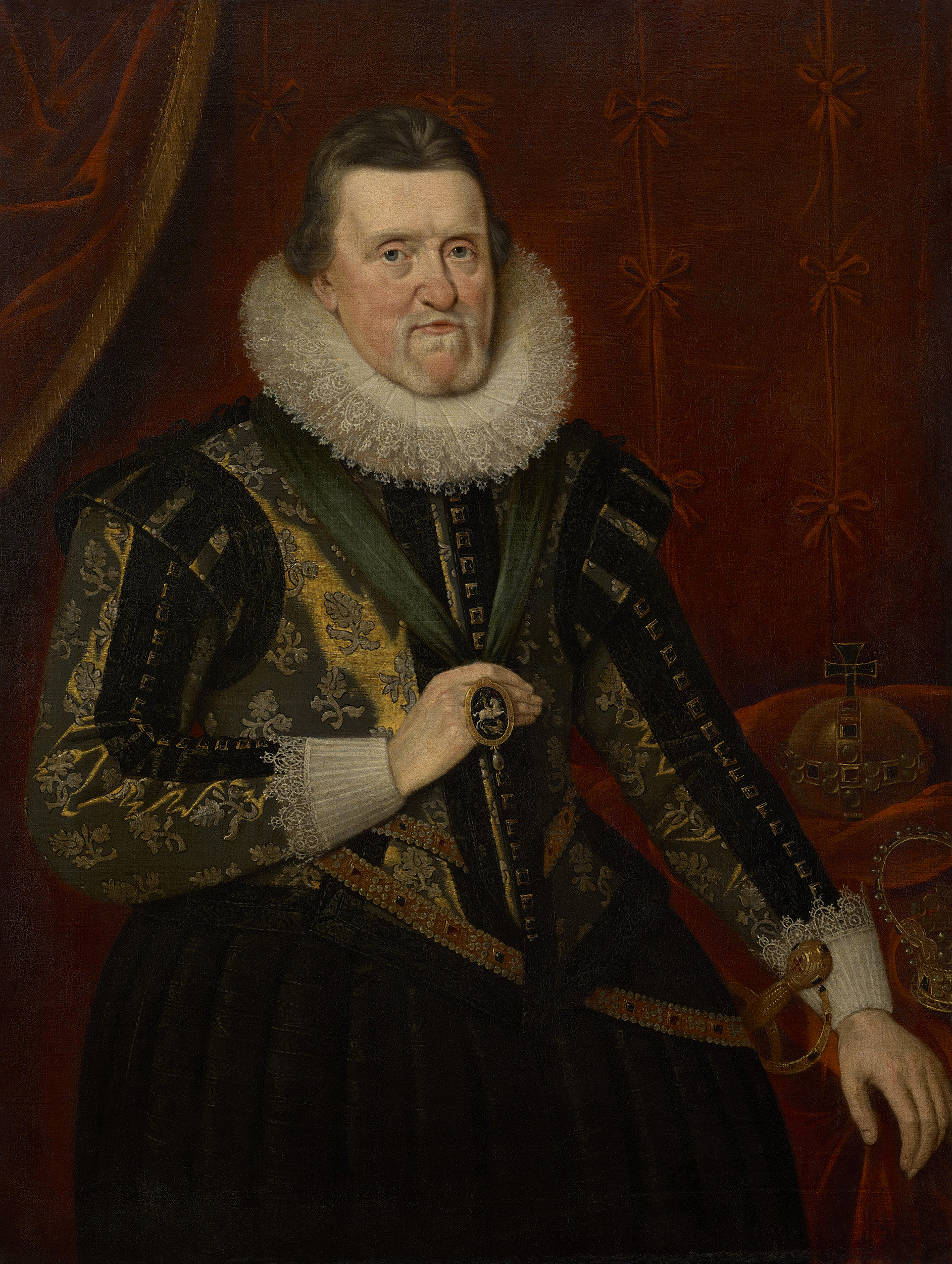 Portrait of James VI and I (1566-1625), King of Scotland (1567-1625), Regency (1567-1580), King of England and Ireland (1603-1625), 1624 | Portraits of Kings