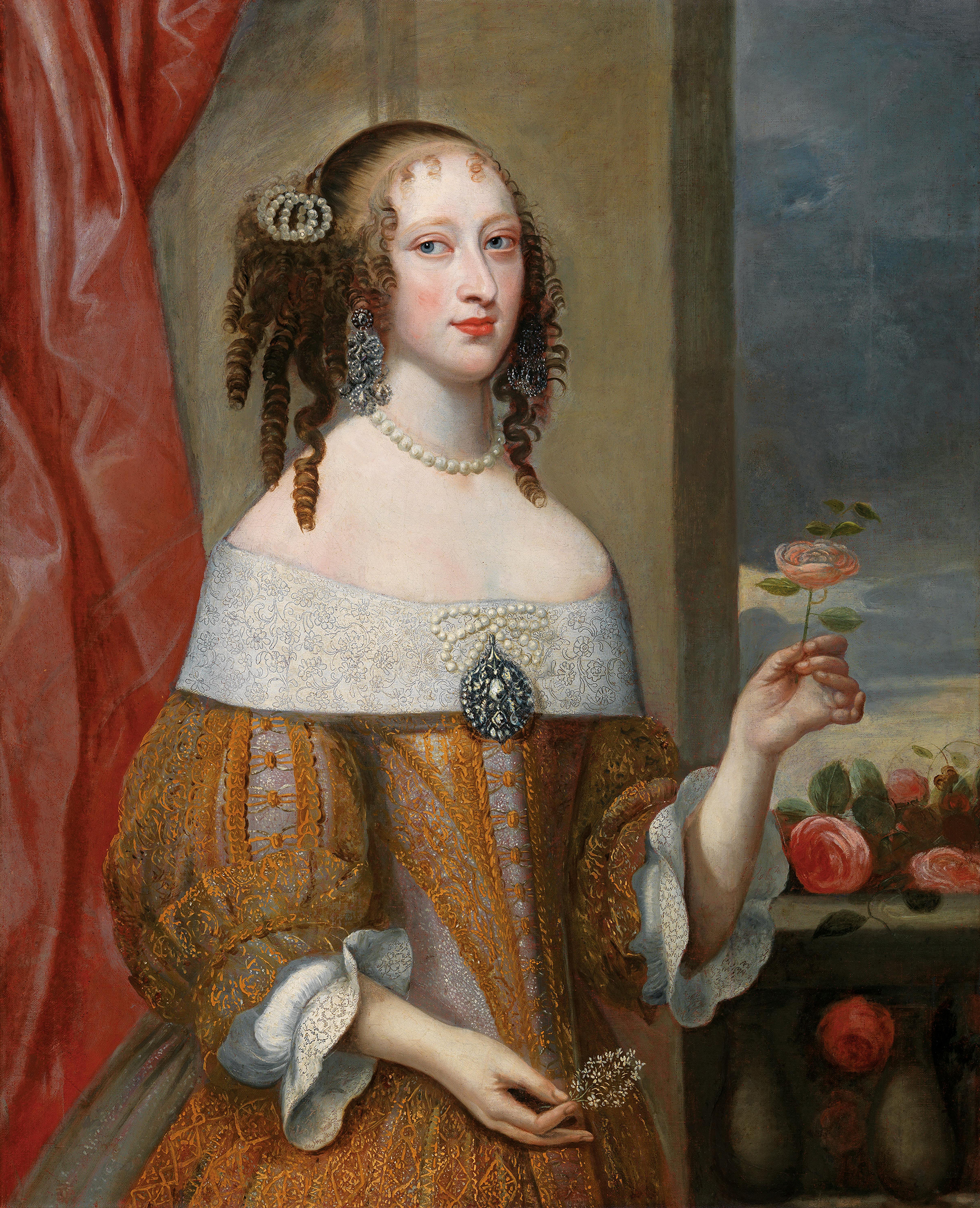 Portrait of Henriette Adelaide of Savoy (1636-1676), Electress of Bavaria (1651-1676) | Portraits of Kings
