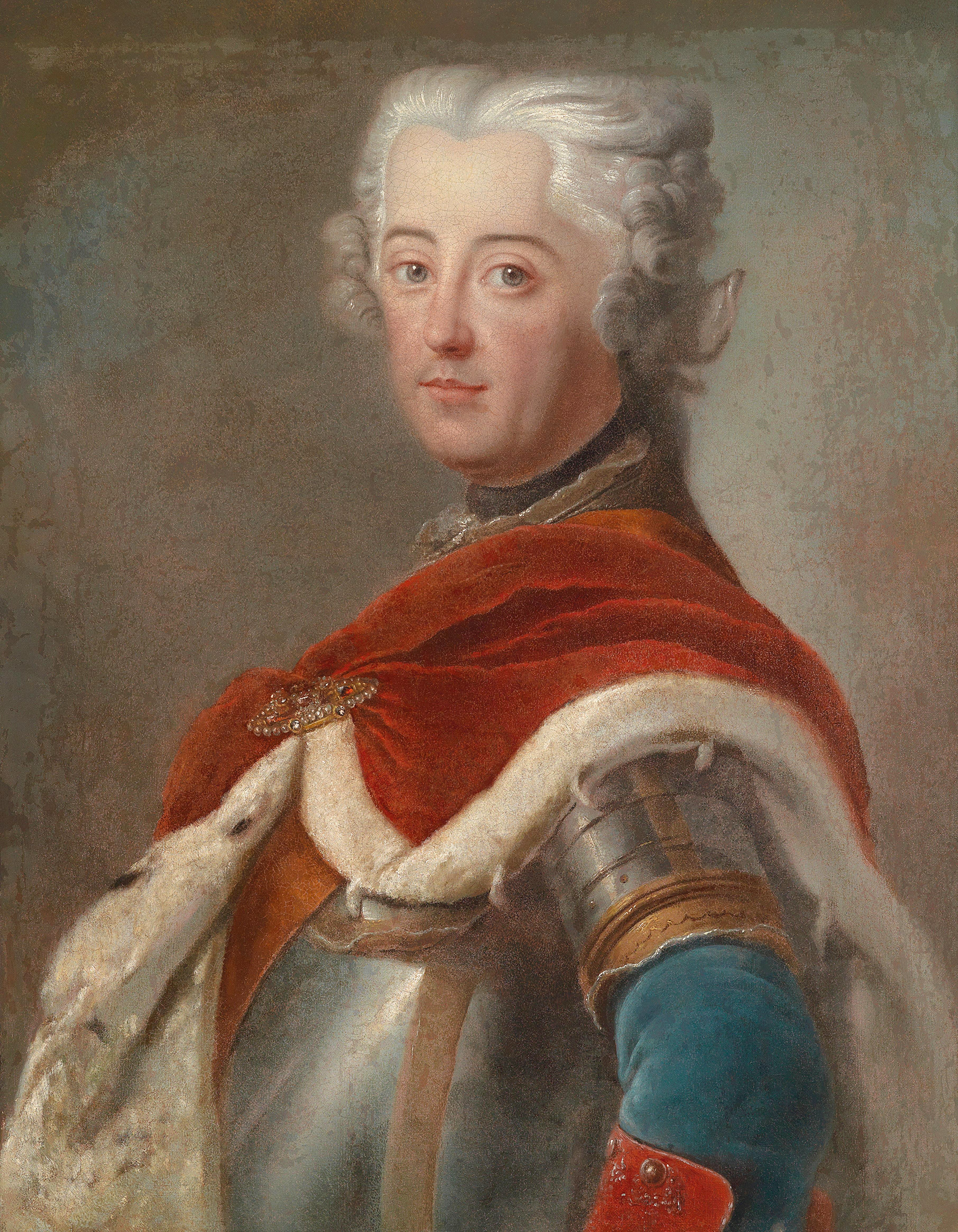 Portrait of Frederick II (1712-1786), King in Prussia Elector of Brandenburg and Prince of Neuchâtel (1740-1786) | Portraits of Kings