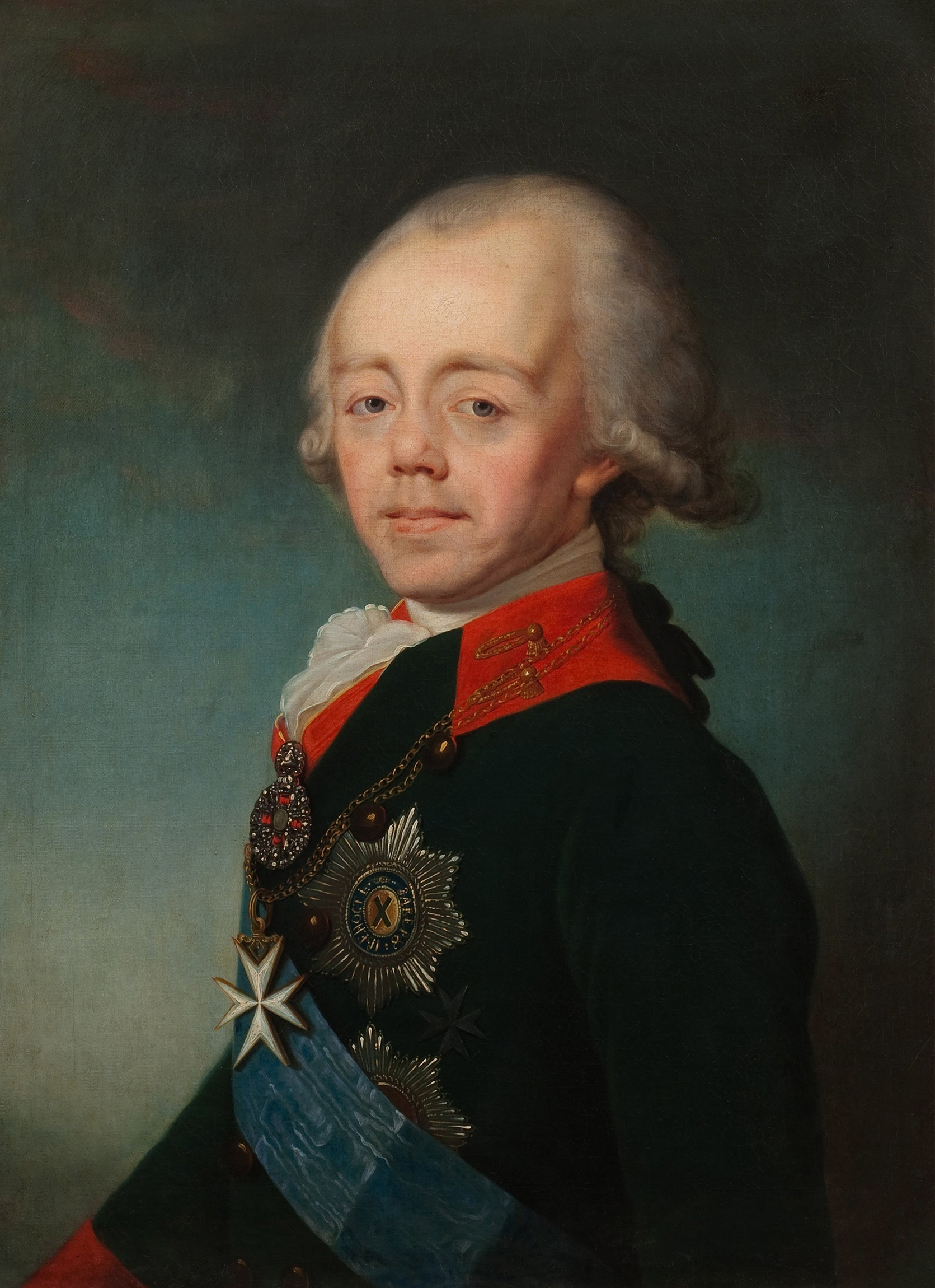 Portrait of Paul I (1754-1801), Grand Duke, Tsesarevich, Crown prince of Russia (1761-1796), Emperor of Russia (1796-1801), 1798 | Portraits of Kings