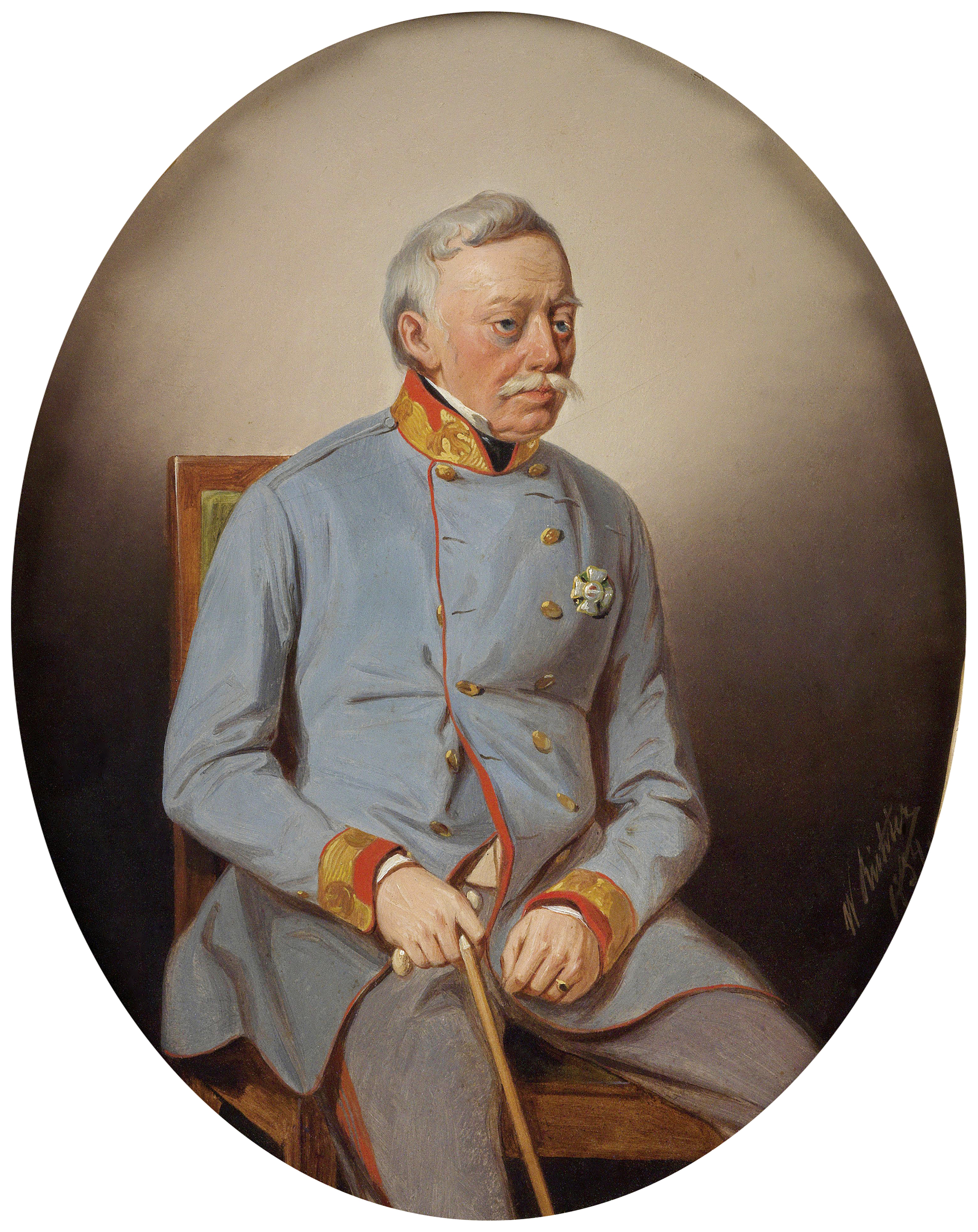 Portrait of Joseph Radetzky von Radetz (1766-1858), Field Marshal of Austria (1836), Viceroy (Governor-General) of the Lombardo-Venetian Kingdom (1848-1857), 1854 | Portraits of Kings