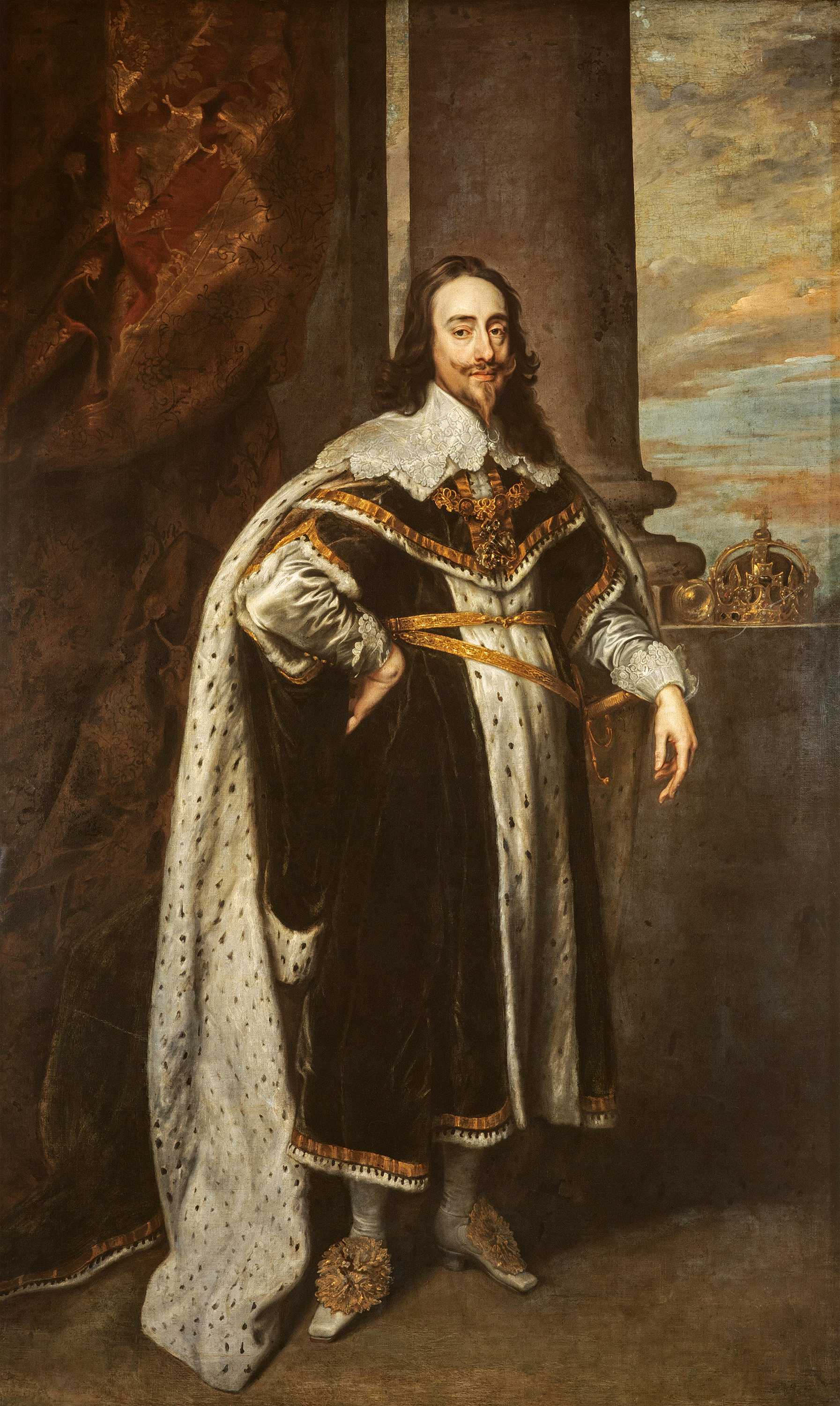 Portrait of Charles I (1600-1649), King of England, Scotland, and Ireland (1625-1649), 1636 | Portraits of Kings
