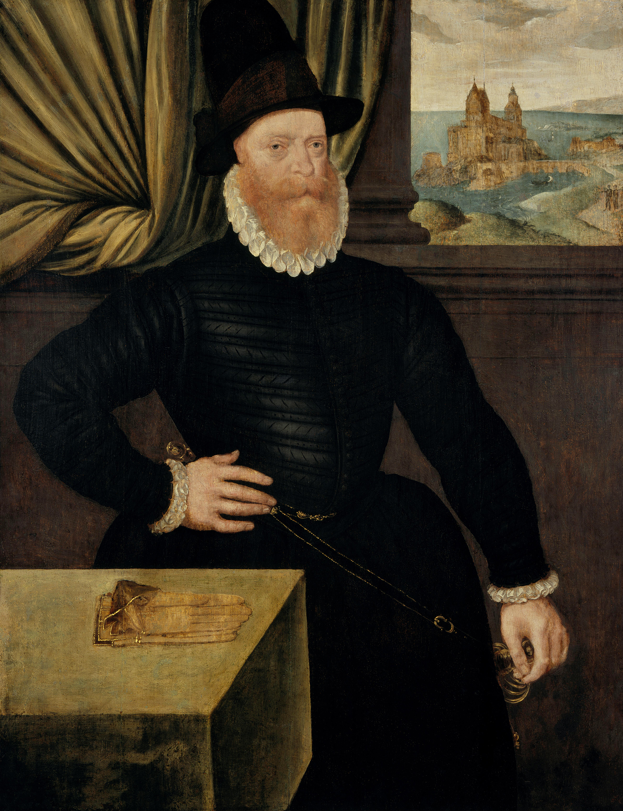 Portrait of James Douglas (1516-1581), 4th Earl of Morton (1553), Regent of Scotland (1572-1580), Lord Chancellor of Scotland (1563-1566; 1567-1573), Lord High Admiral of Scotland (1568-1581), 1578 | Portraits of Kings