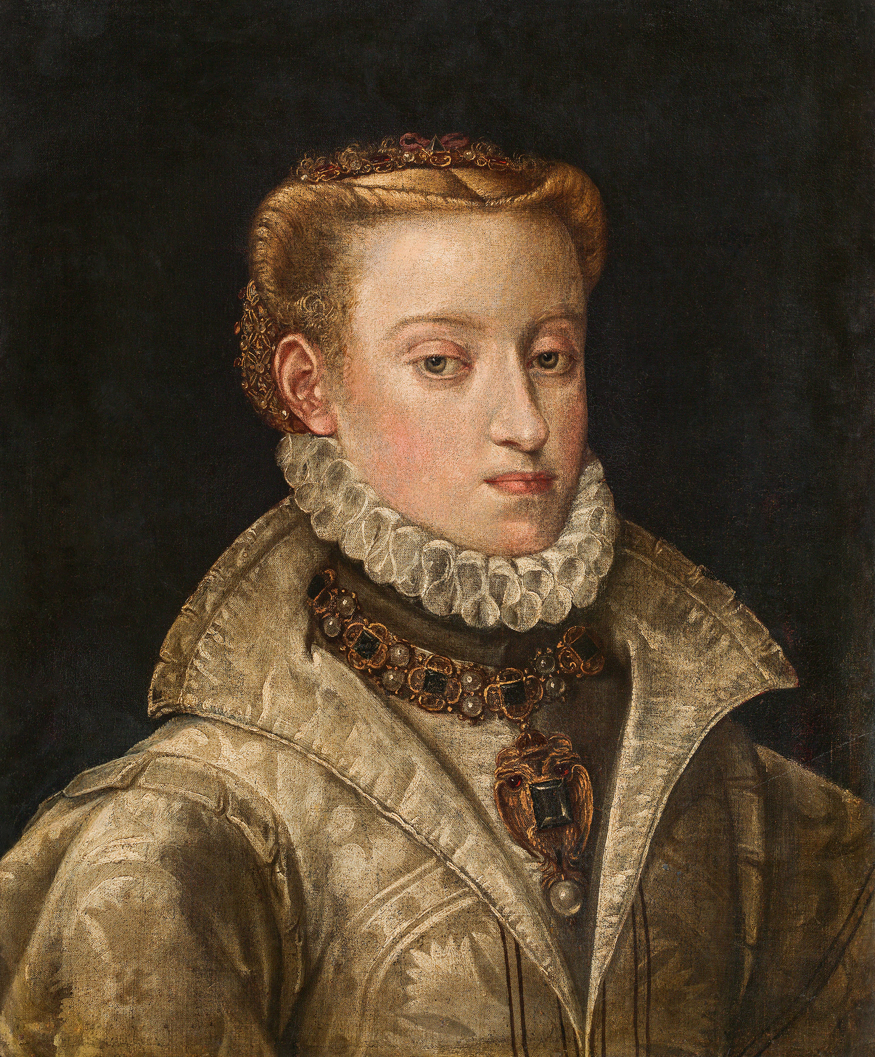 Portrait of Anna of Austria (1549-1580), Queen consort of Spain (1570-1580) | Portraits of Kings