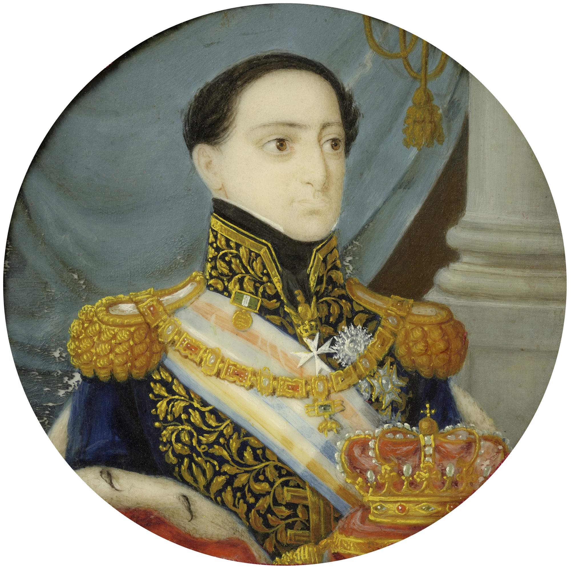 Portrait of Miguel I (1802-1866), King of Portugal (1828-1834), 1828 | Portraits of Kings