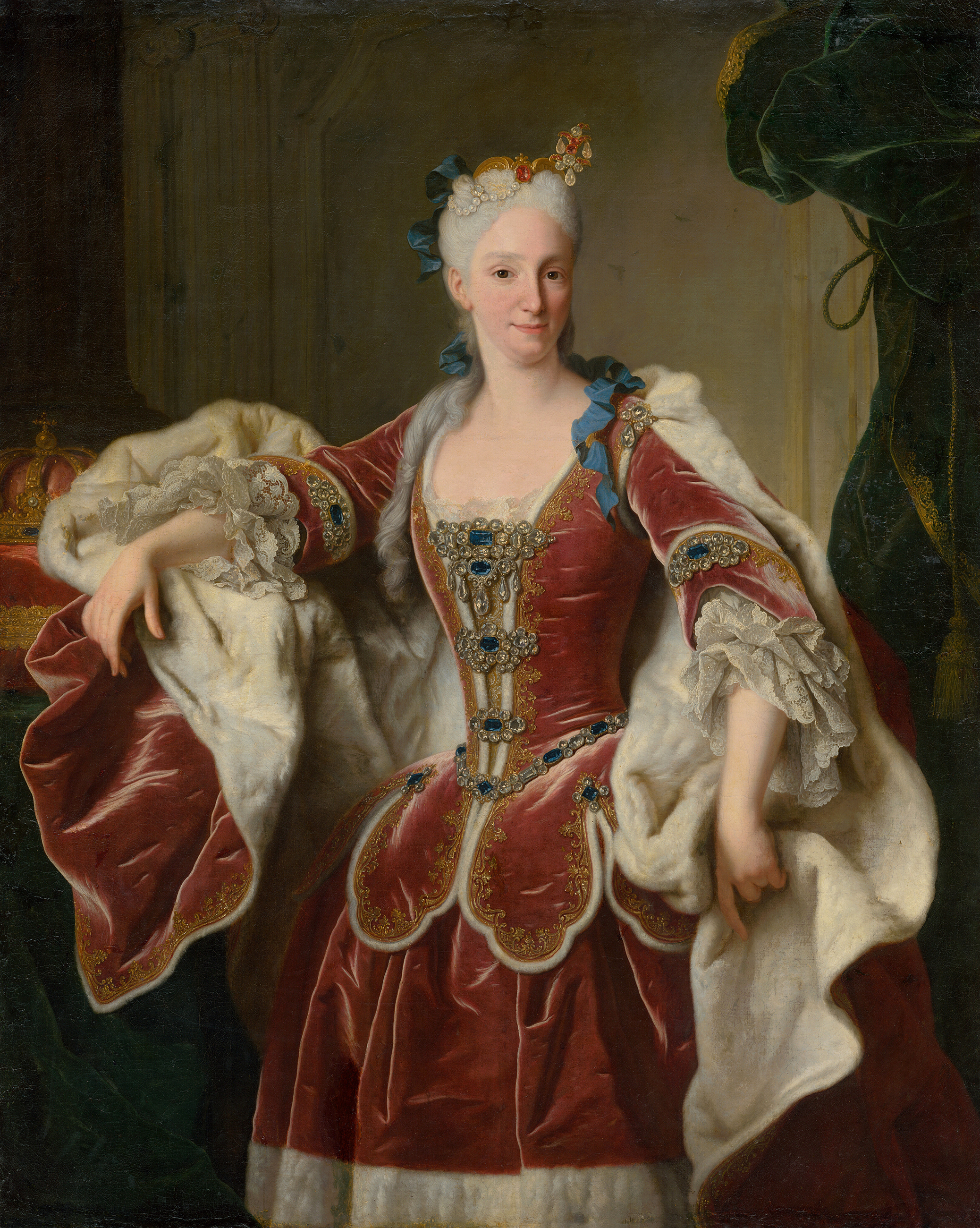 Portrait of Elisabeth Farnese (1692-1766), Queen consort of Spain (1714-1746); de facto ruler of Spain from 1714 until 1746, 1723 | Portraits of Kings